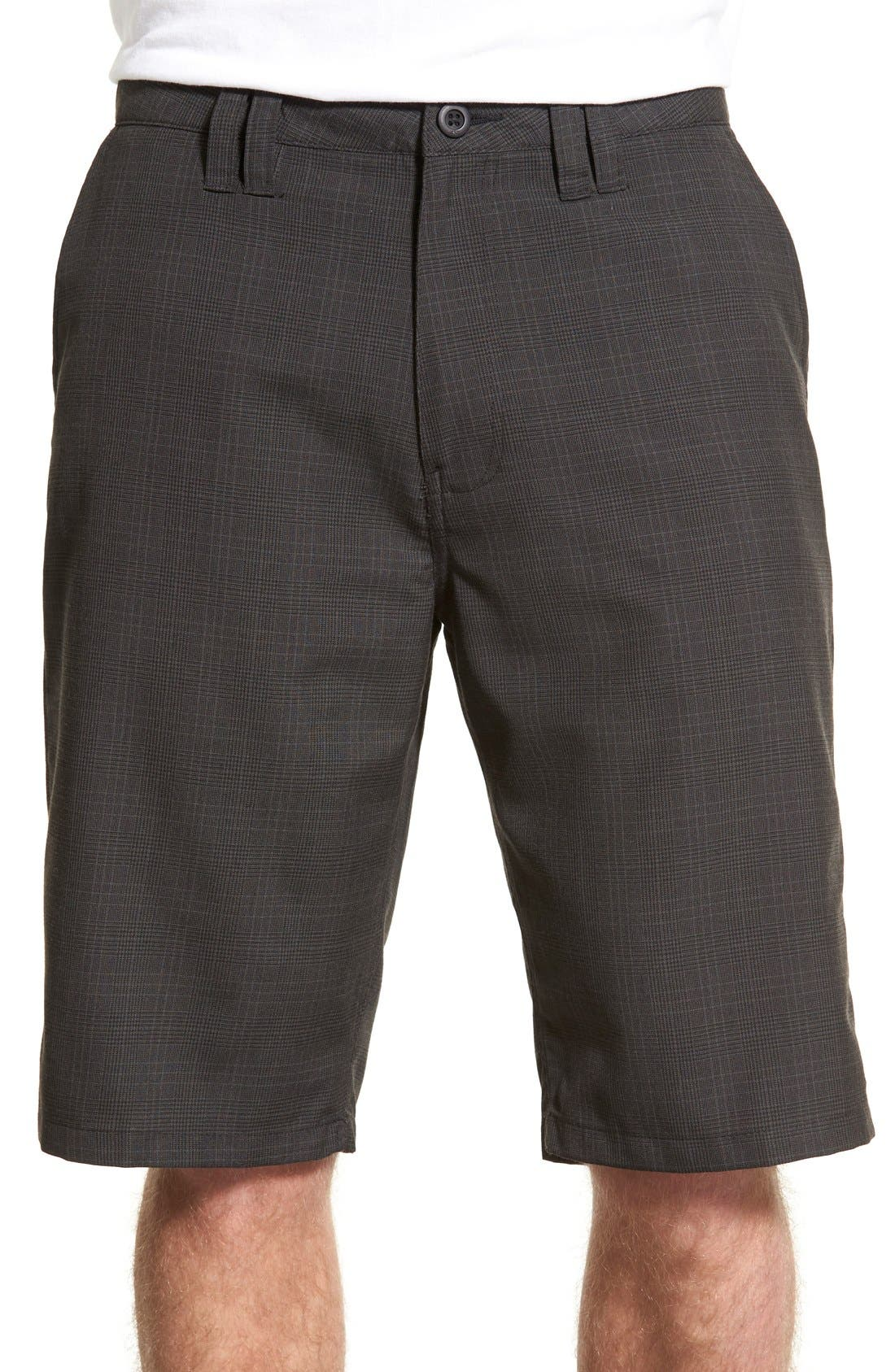 'Delta Plaid' Chino Shorts,                         Main,                         color, 001