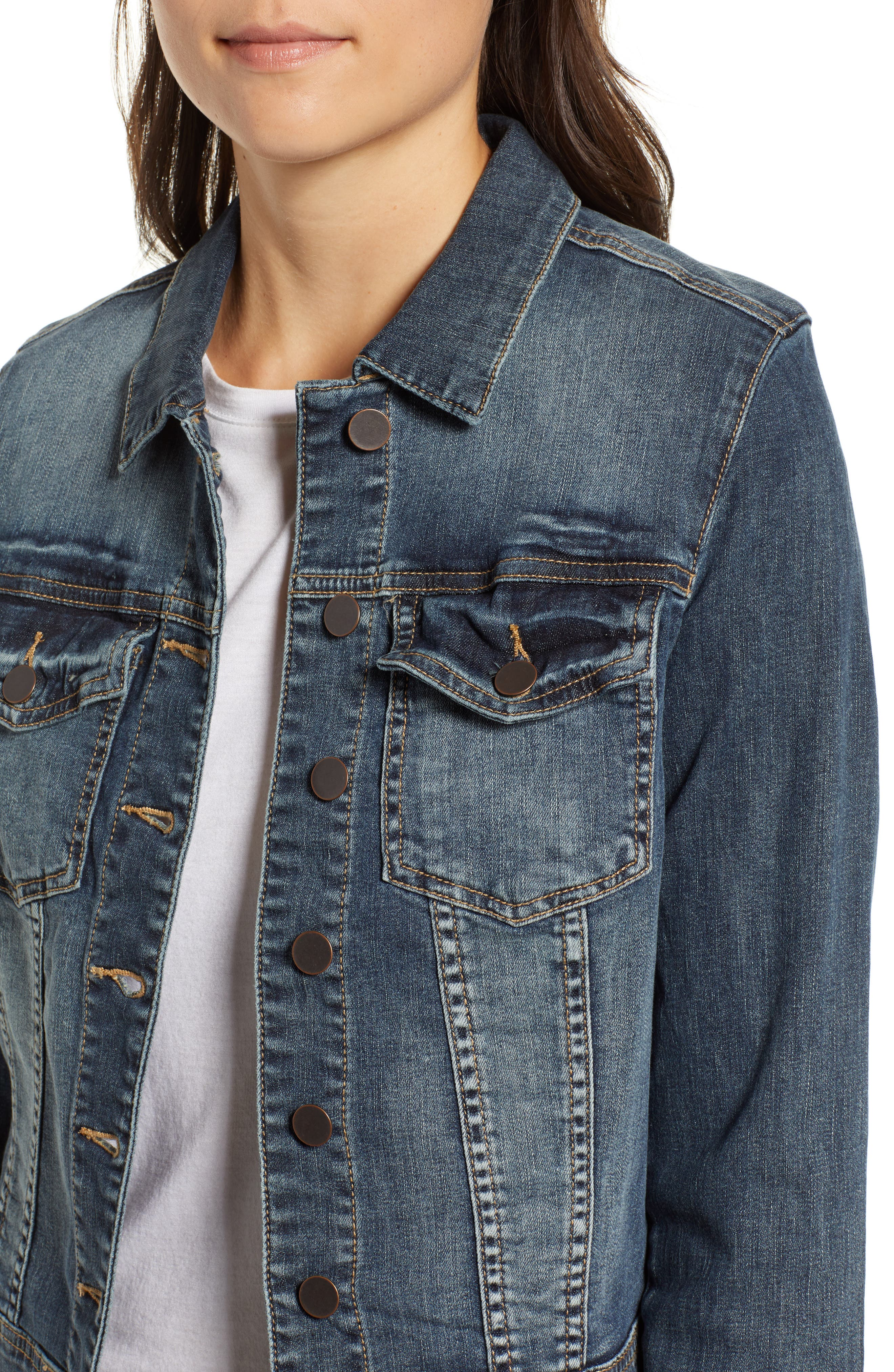 Helena Denim Jacket,                             Alternate thumbnail 4, color,                             477