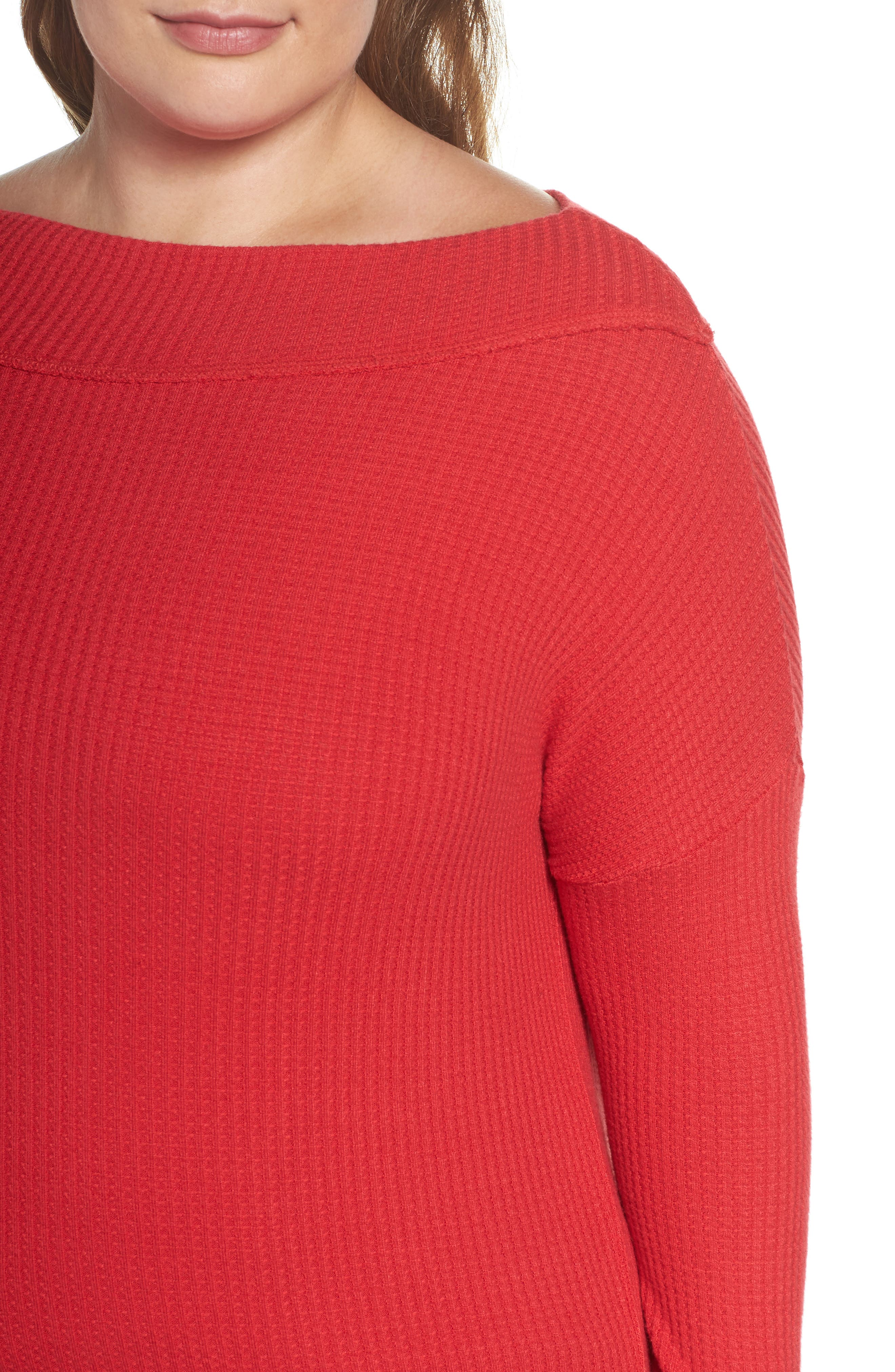 Waffle Thermal Top,                             Alternate thumbnail 8, color,