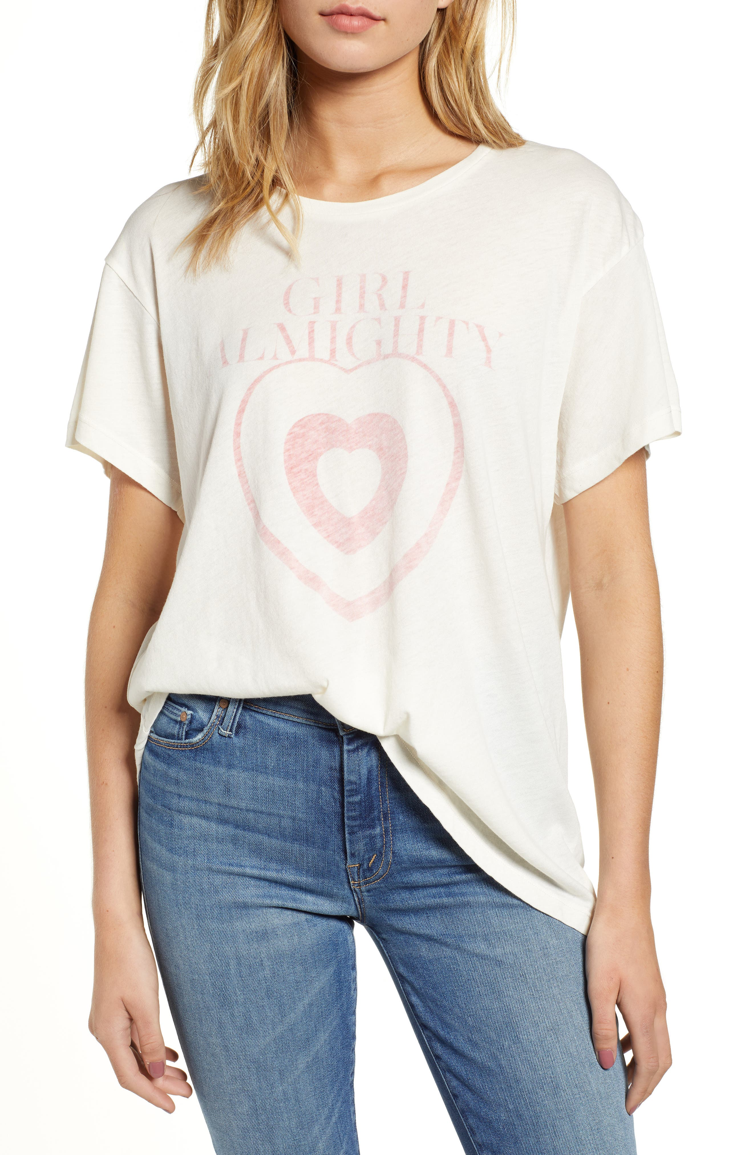 Girl Almighty Manchester Tee,                             Main thumbnail 1, color,                             101