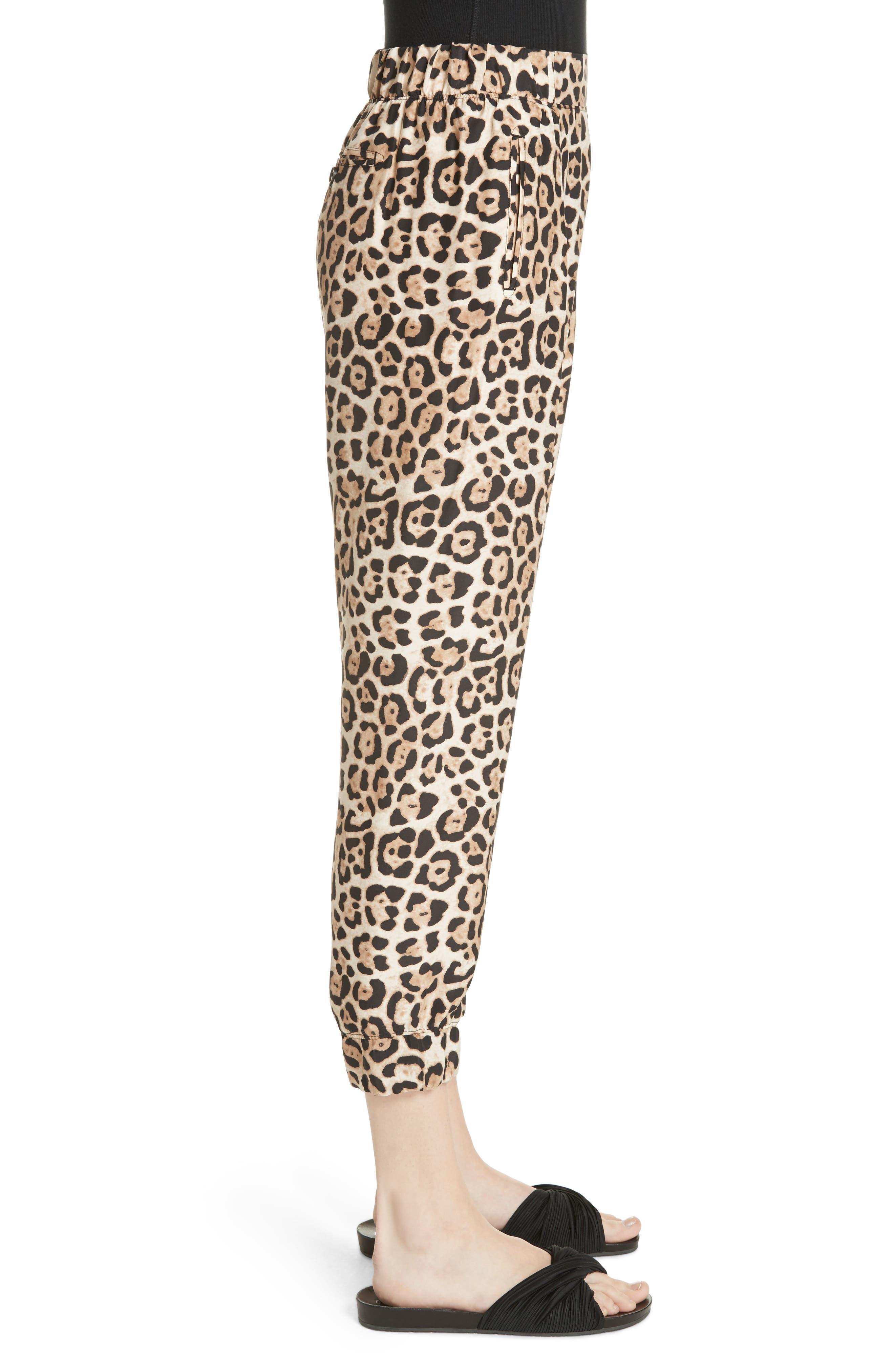 ATM ANTHONY THOMAS MELILLO,                             Leopard Print Silk Pants,                             Alternate thumbnail 3, color,                             LEOPARD PRINT