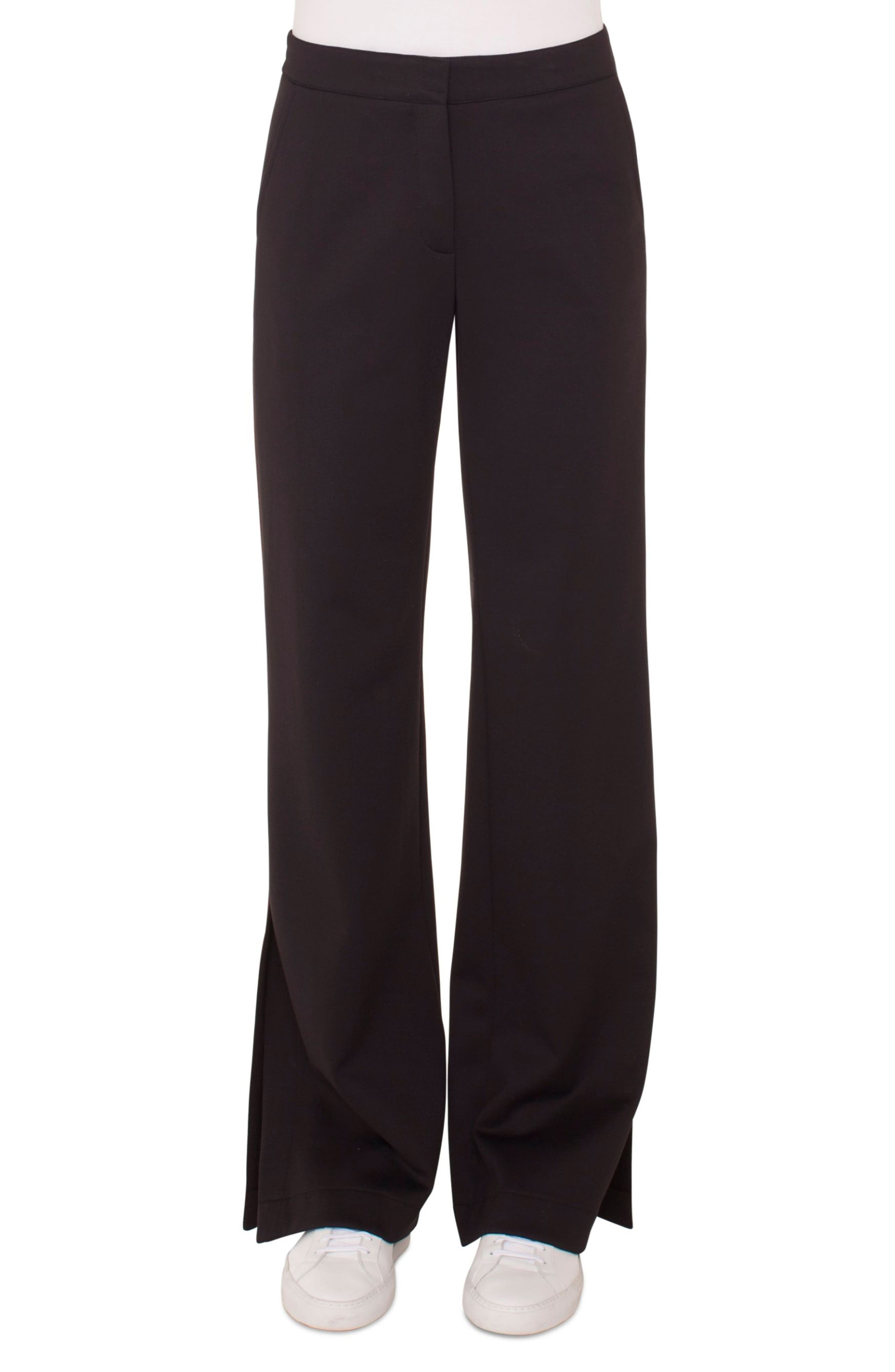 Side Stripe Trousers,                         Main,                         color, BLACK
