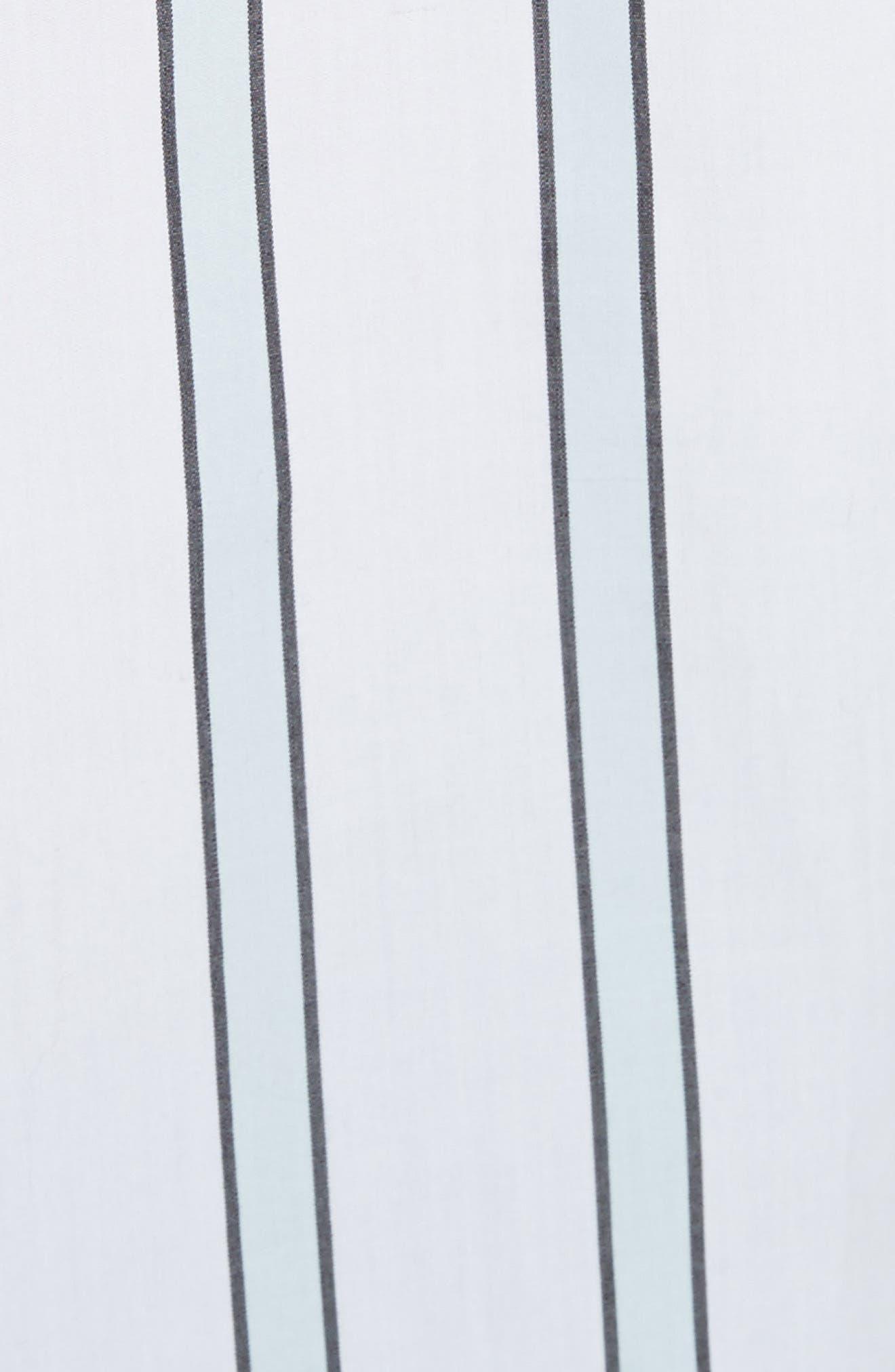 Essential Neopolitan Cuff Stripe Shirt,                             Alternate thumbnail 5, color,                             157
