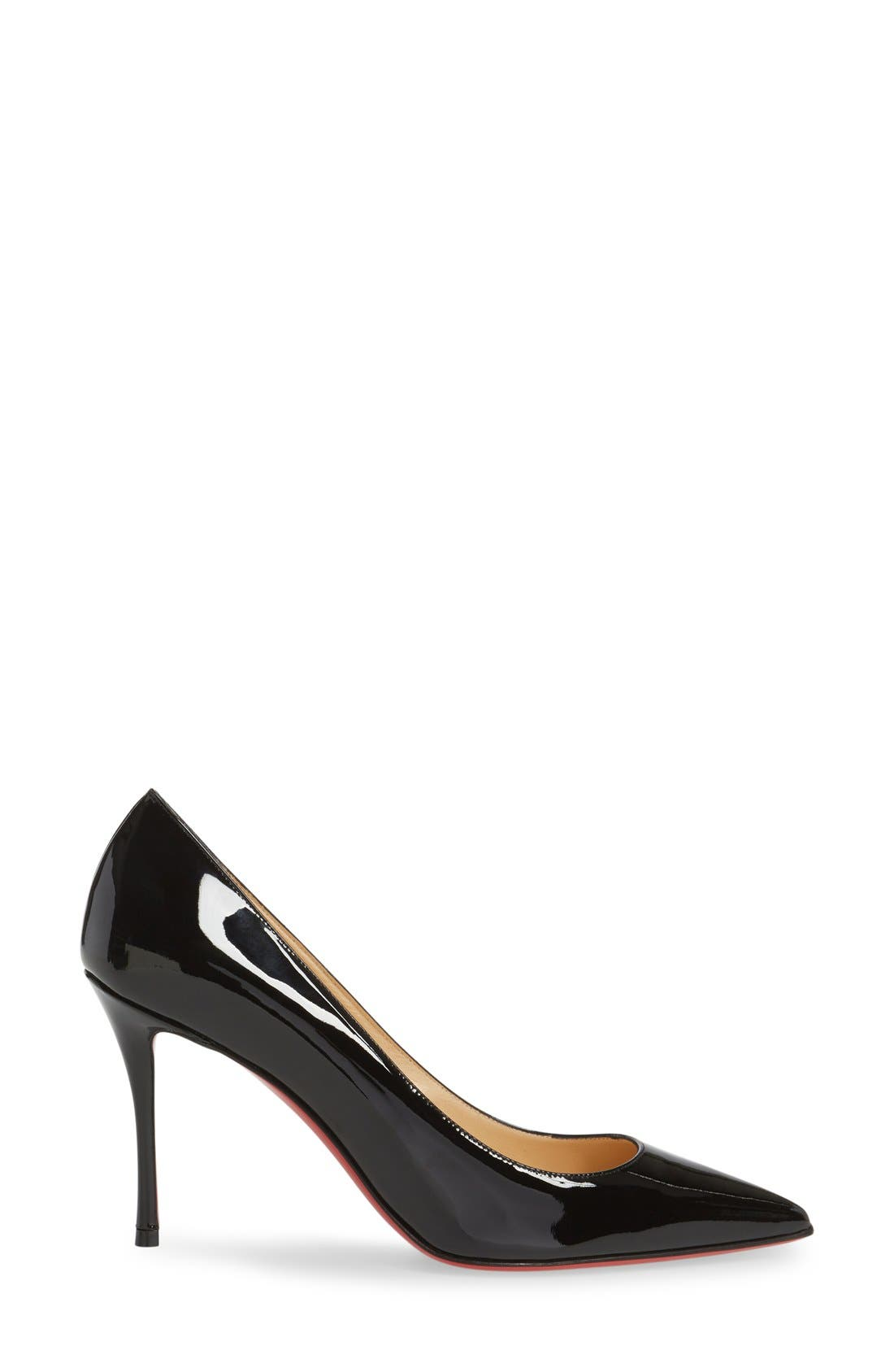 Decoltish Pointy Toe Pump,                             Alternate thumbnail 6, color,                             001