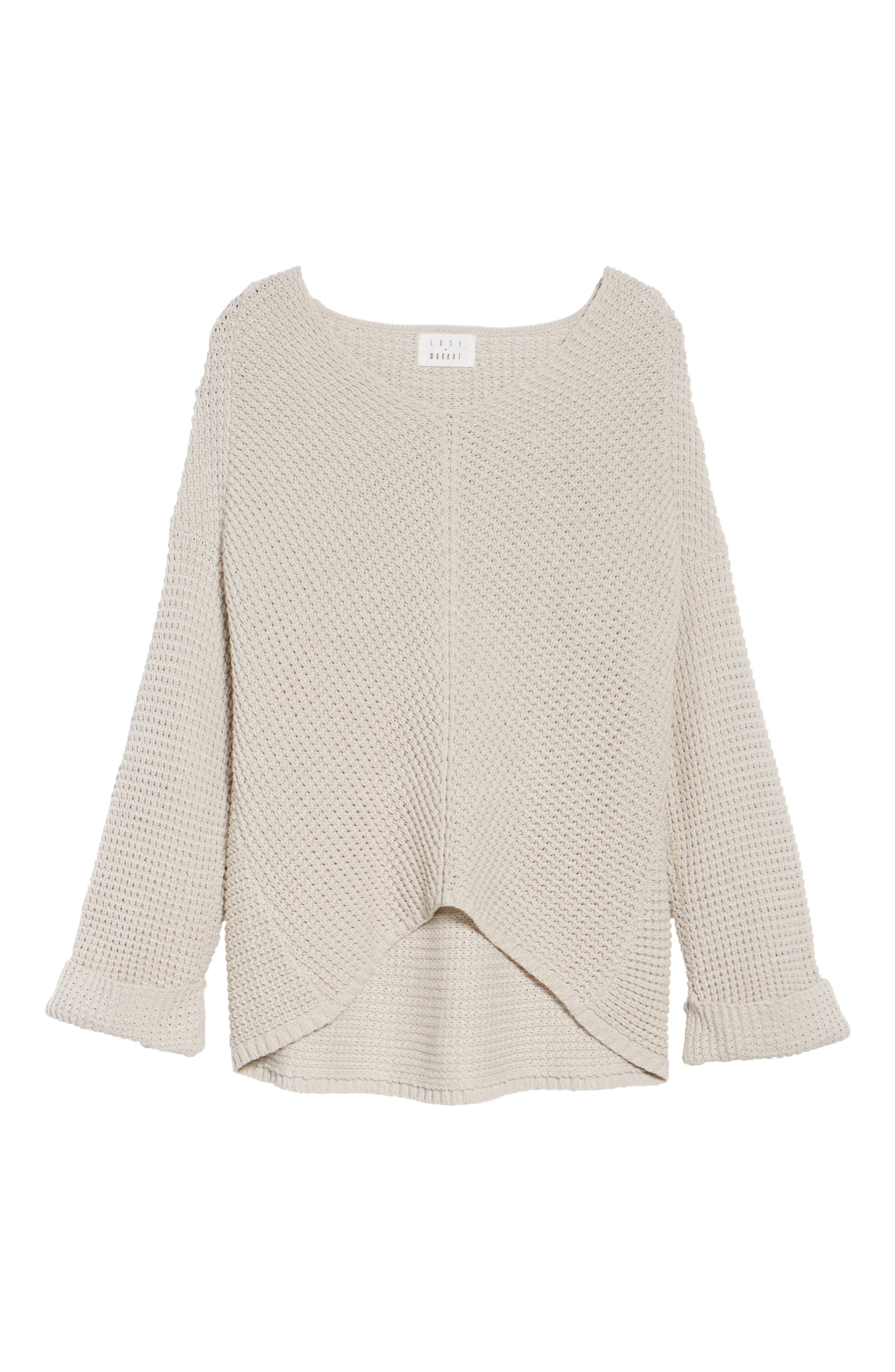 Adelia Bell Sleeve Sweater,                             Alternate thumbnail 6, color,                             900
