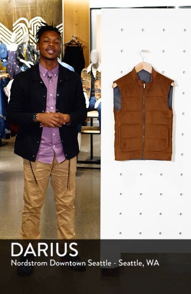 Raydon Faux Suede Reversible Vest, sales video thumbnail