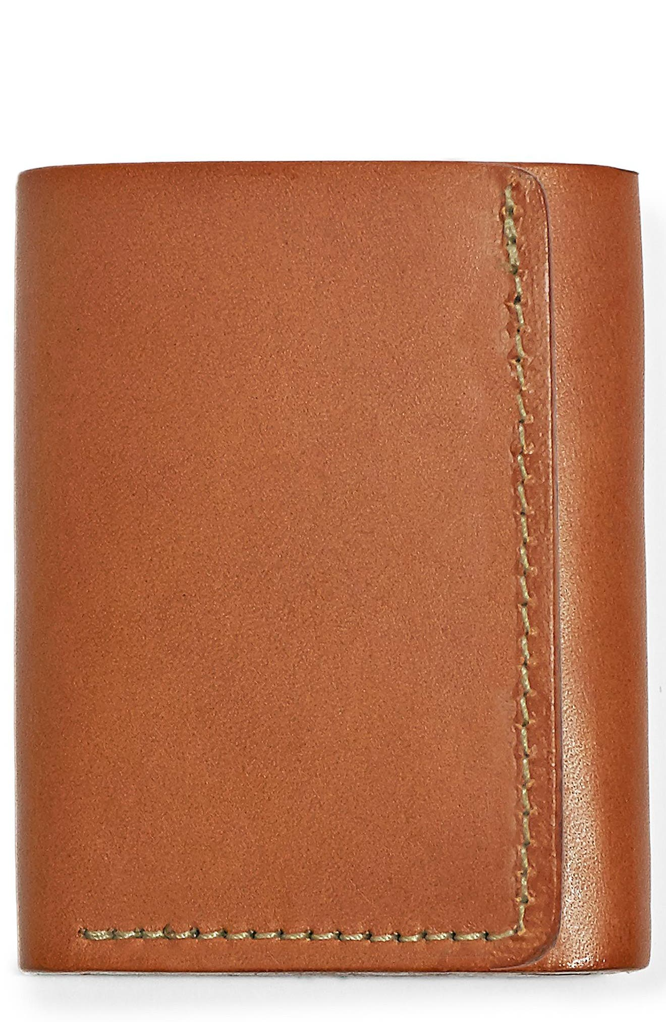 Leather Trifold Leather Wallet,                             Main thumbnail 2, color,