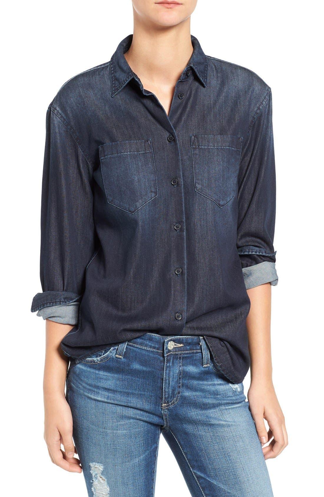 Hartley Chambray Shirt,                         Main,                         color, 458