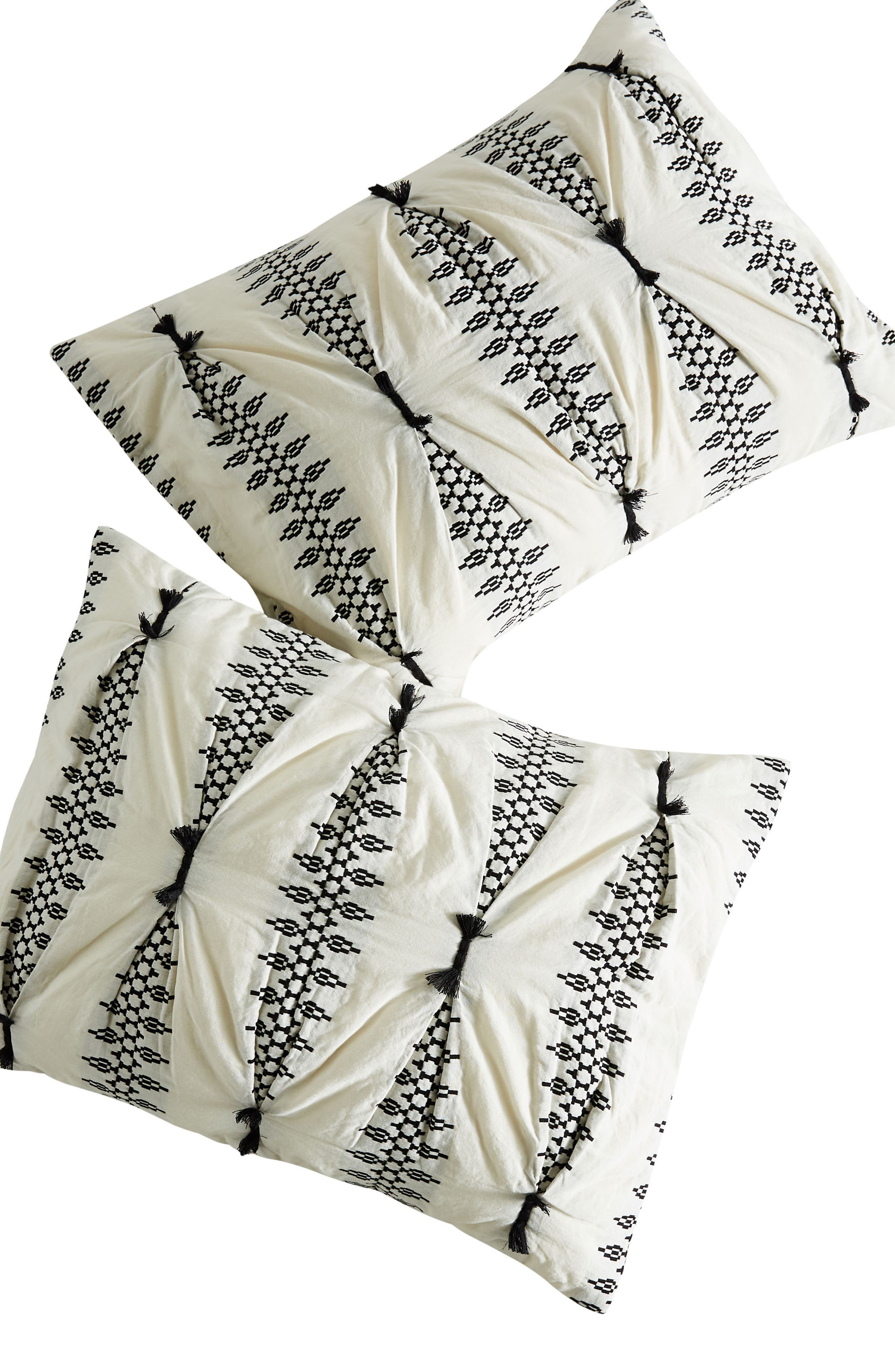 Embroidered Lilou Pillow Shams,                             Alternate thumbnail 2, color,                             CARBON