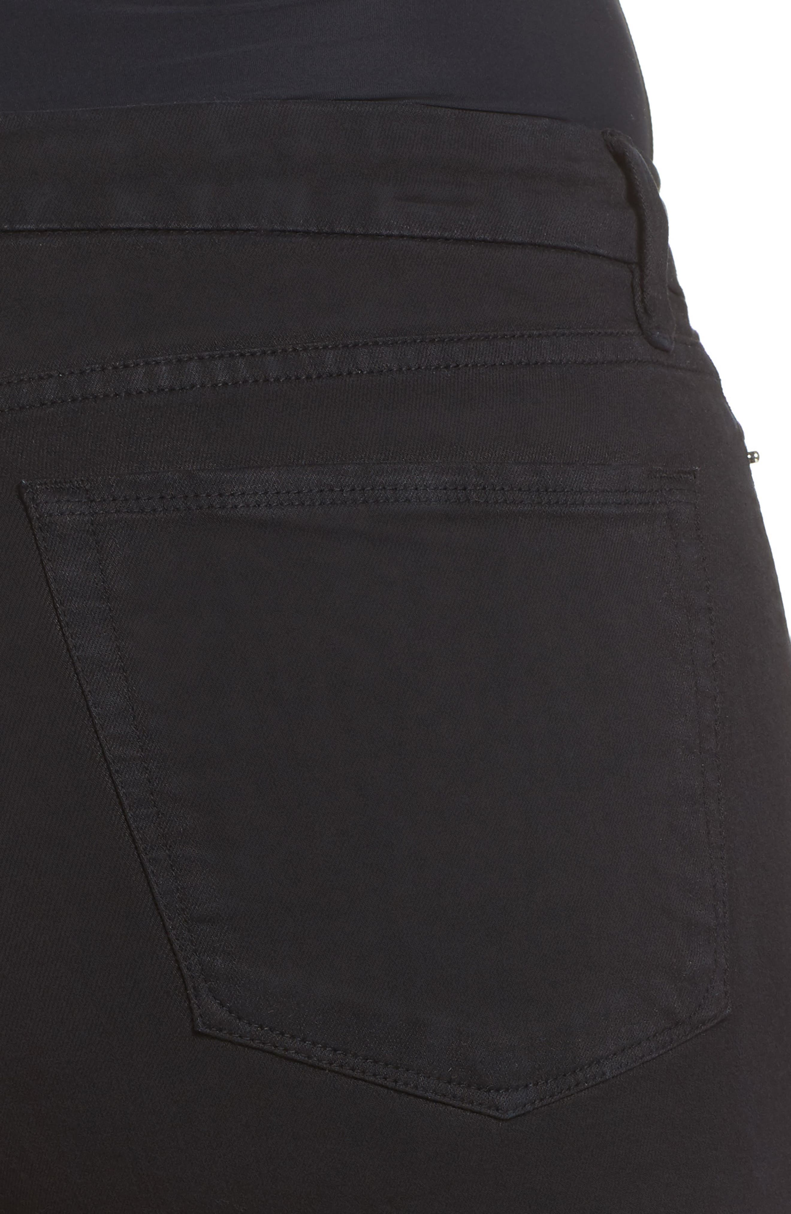 Destroyed Cutoff Denim Shorts,                             Alternate thumbnail 4, color,                             001