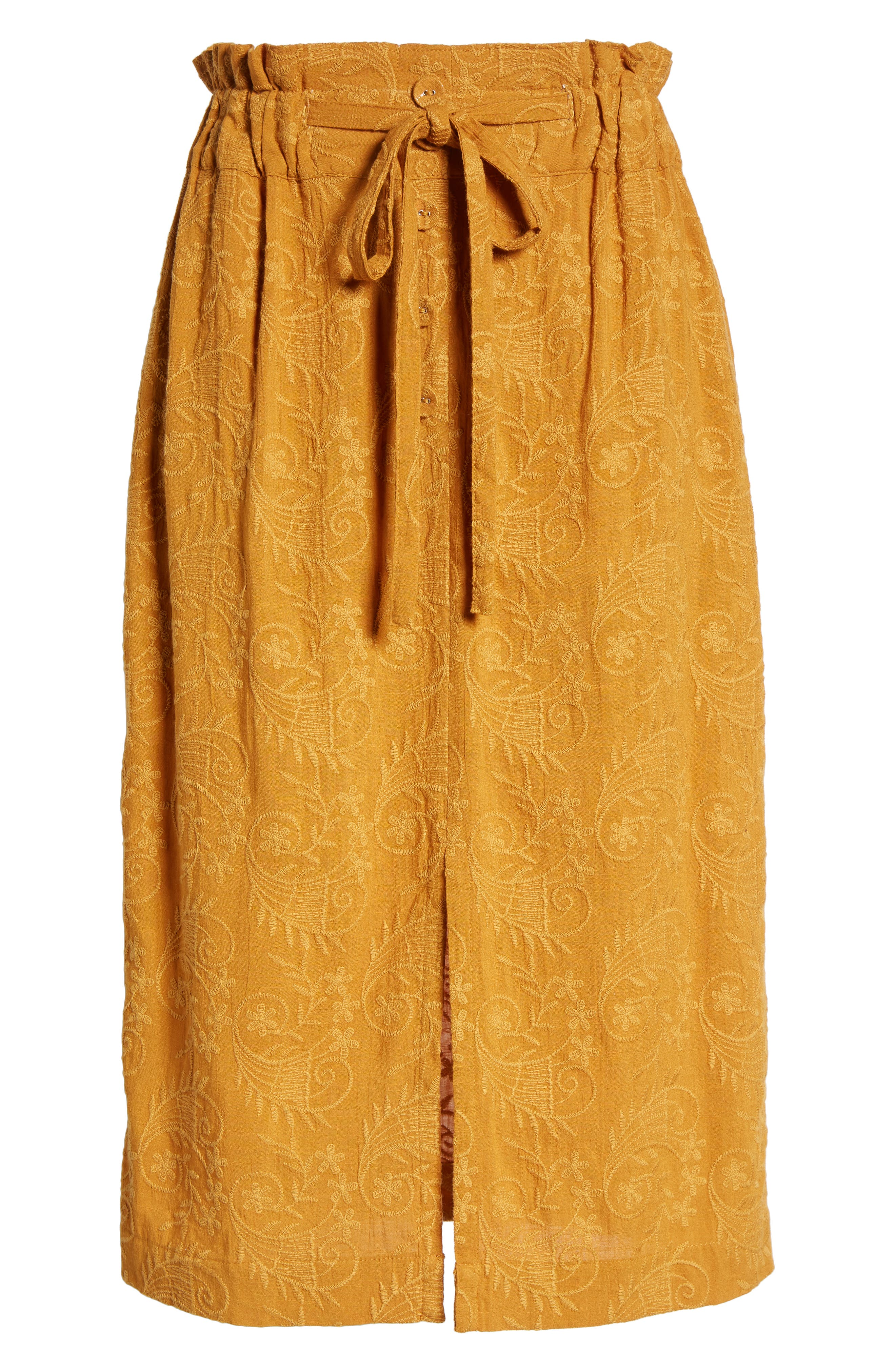 Embroidered Paperbag Waist Skirt,                             Alternate thumbnail 6, color,                             700