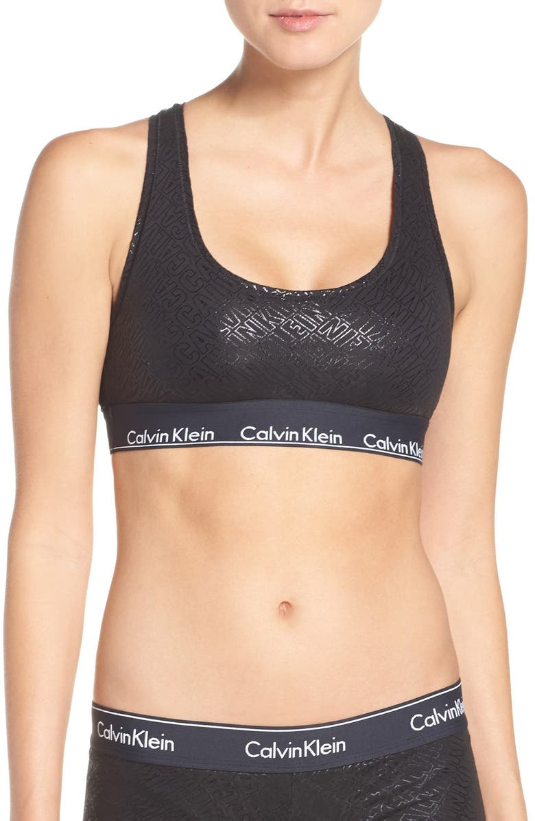 370f044062 CALVIN KLEIN Modern Cotton Collection Cotton Blend Racerback Bralette