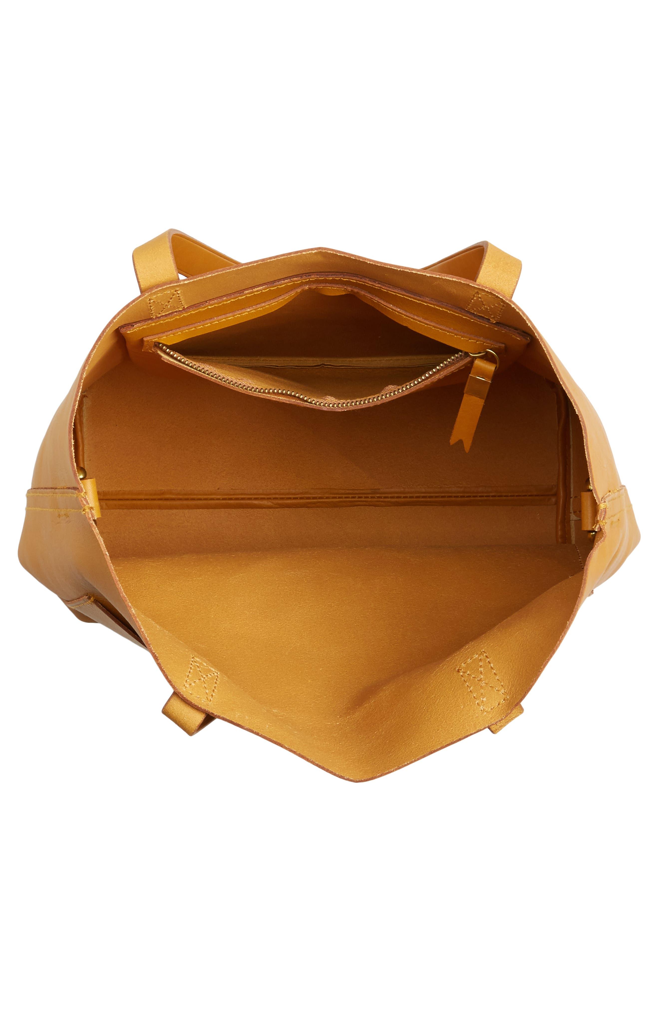 Medium Leather Transport Tote,                             Alternate thumbnail 4, color,                             250