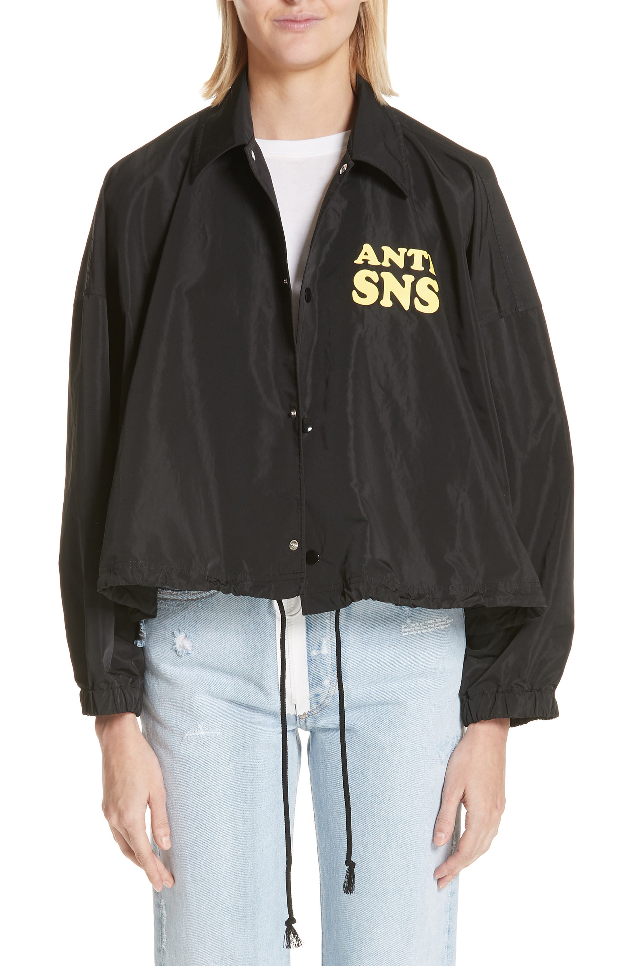 Anti SNS Jacket,                         Main,                         color, 001