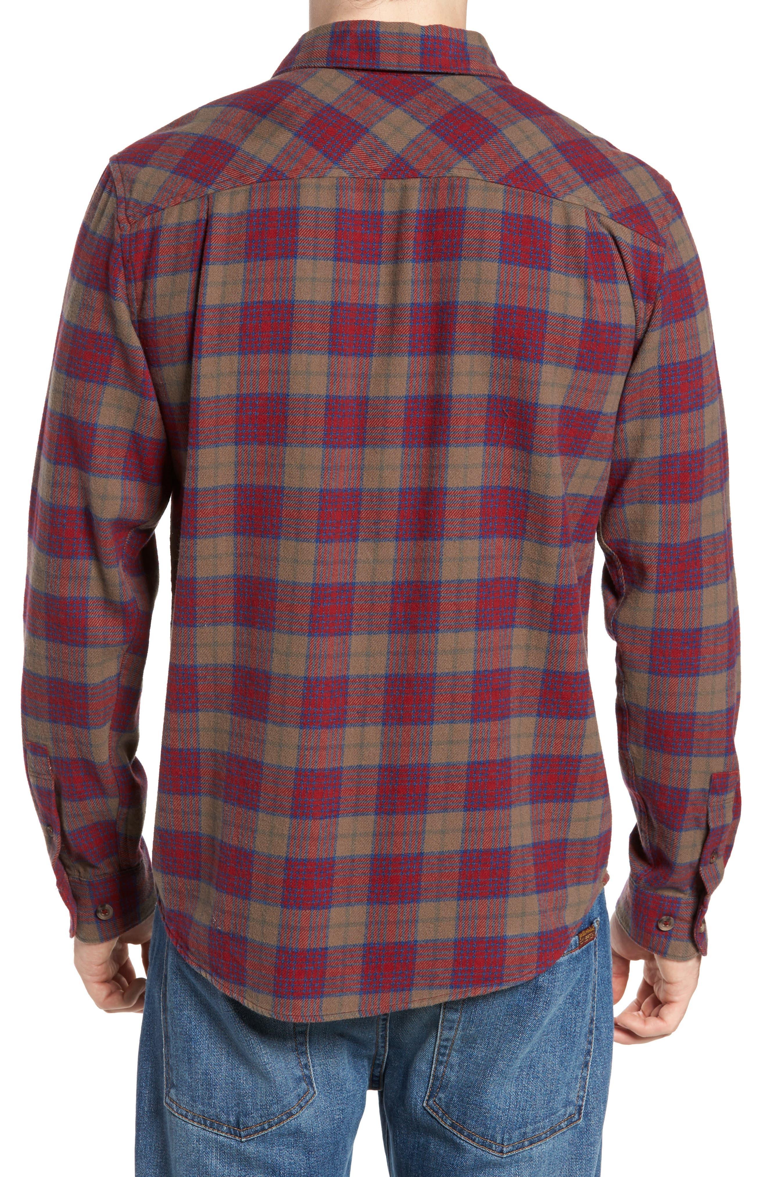 'That'll Work' Trim Fit Plaid Flannel Shirt,                             Alternate thumbnail 8, color,