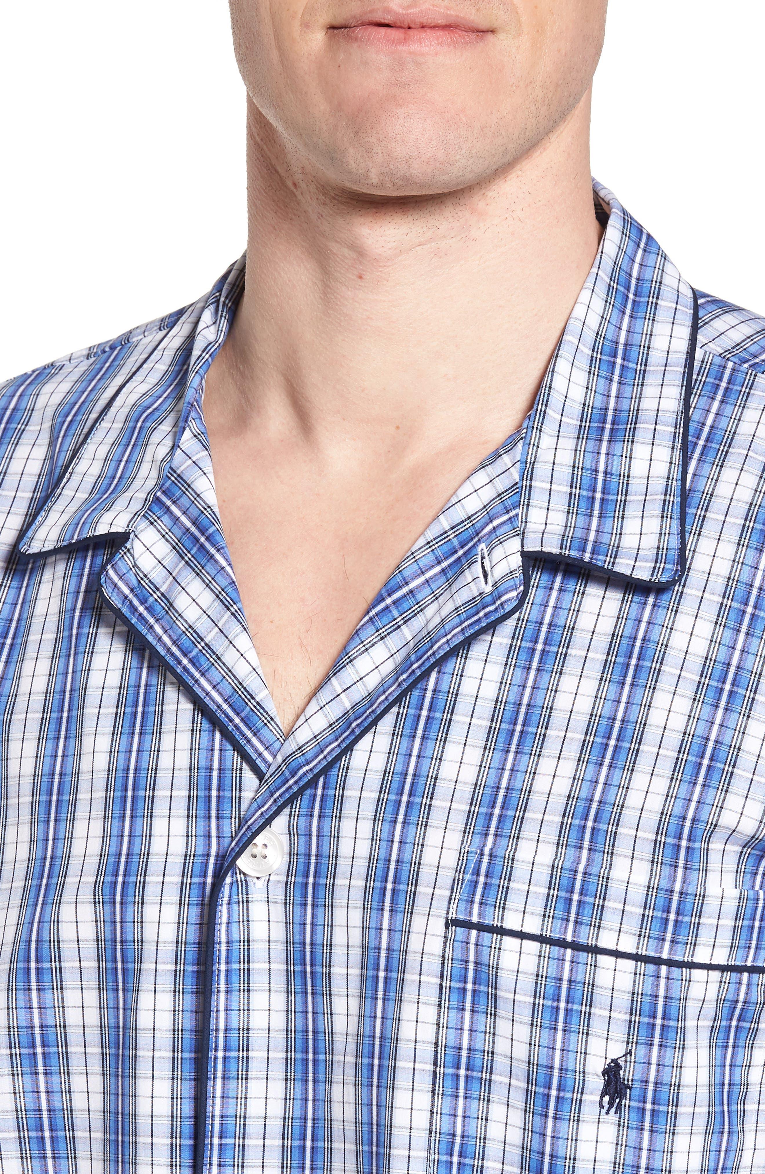 Cotton Pajama Shirt,                             Alternate thumbnail 4, color,                             428