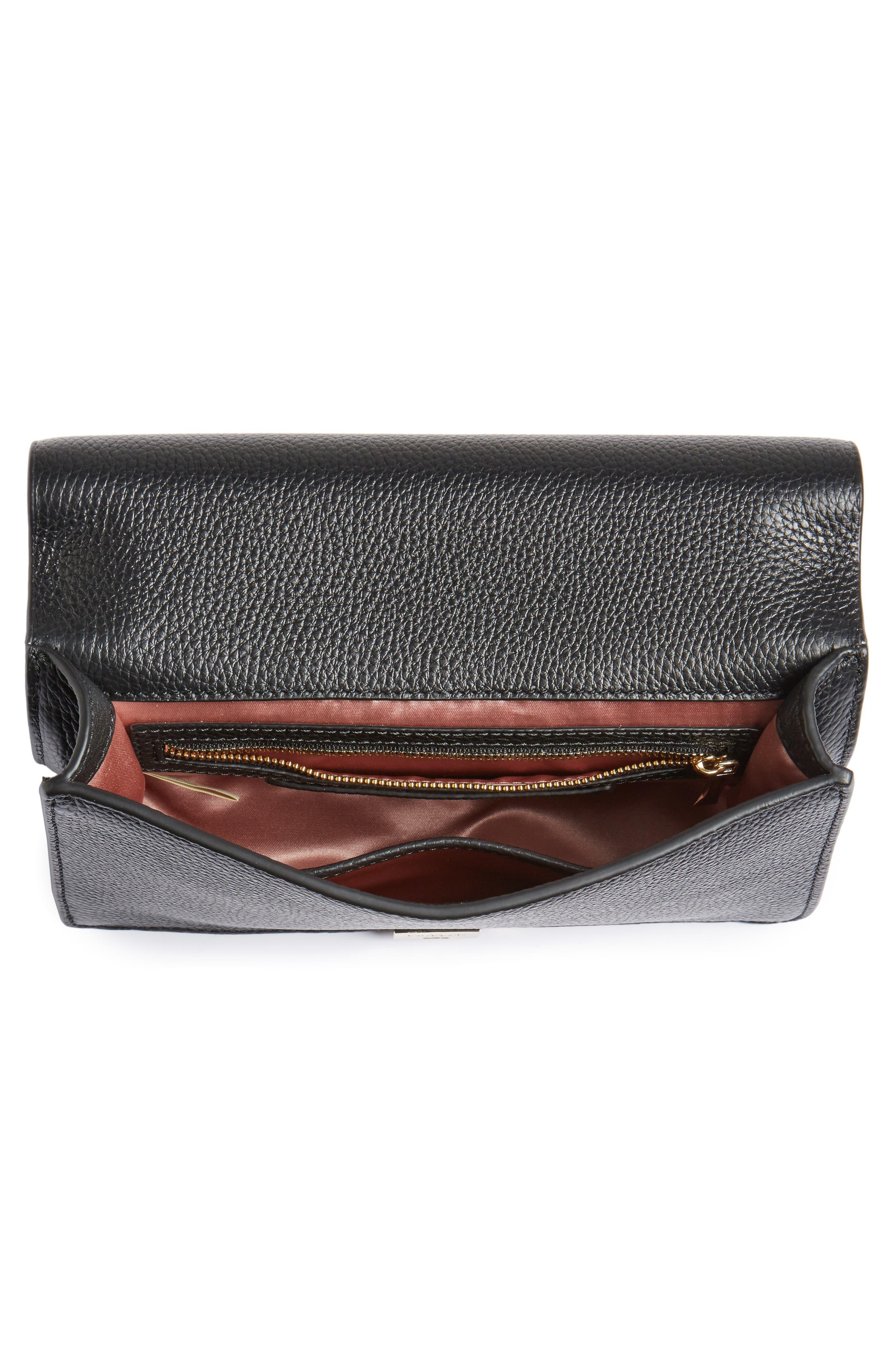 madison knollwood drive - buckle marci leather shoulder bag,                             Alternate thumbnail 4, color,                             001