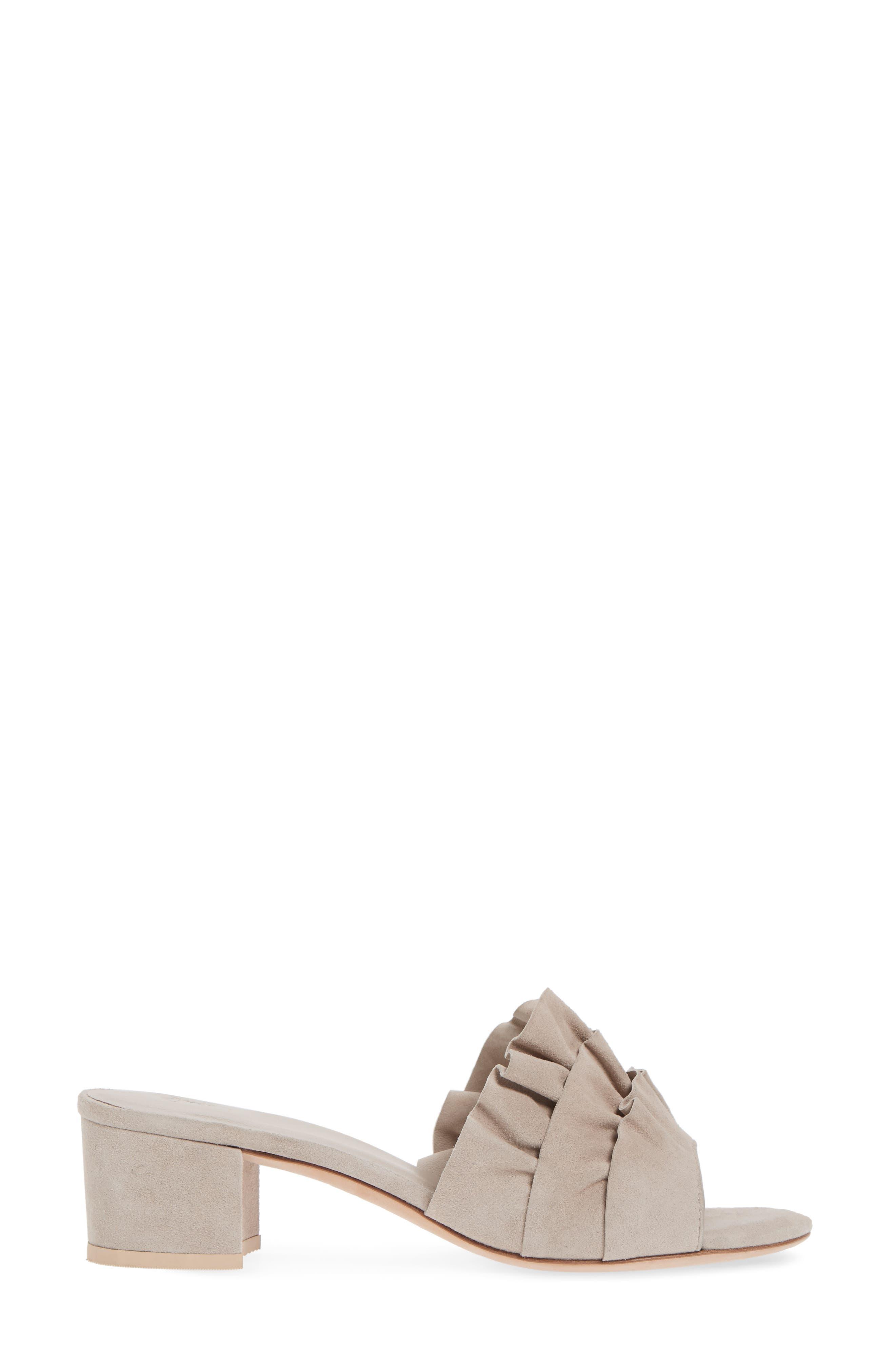 Mai Ruffle Slide Sandal,                             Alternate thumbnail 6, color,