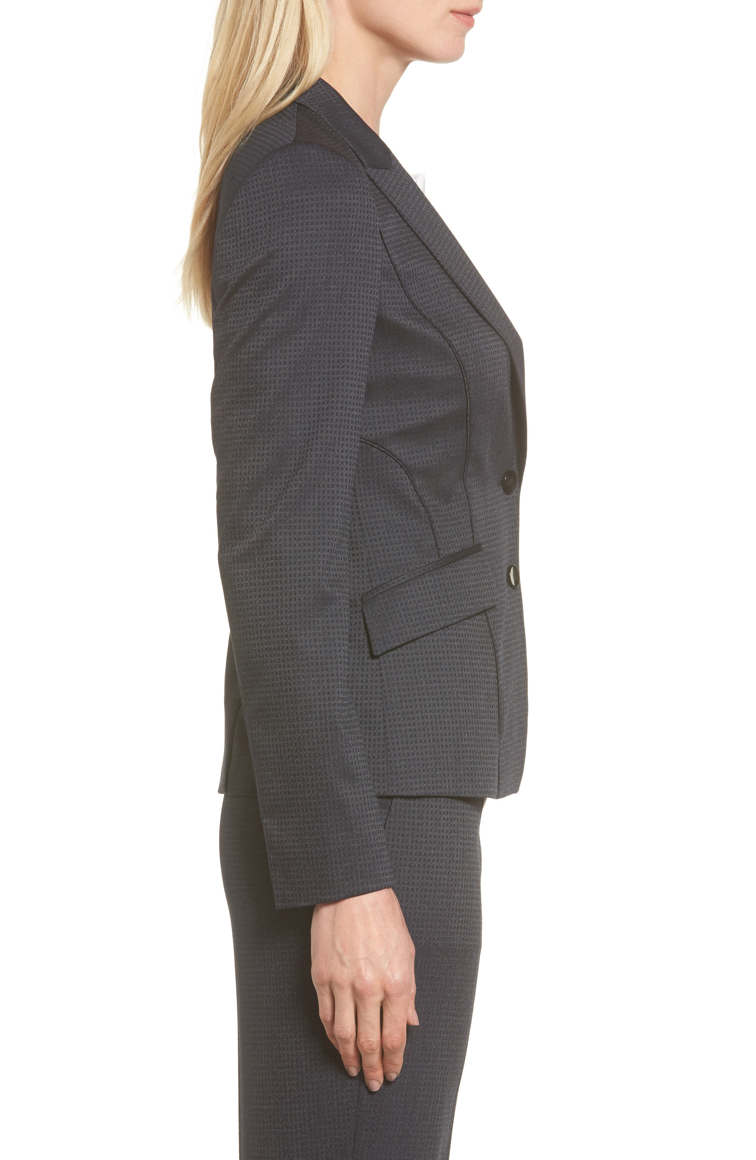 Jukani Check Wool Blend Suit Jacket,                             Alternate thumbnail 6, color,
