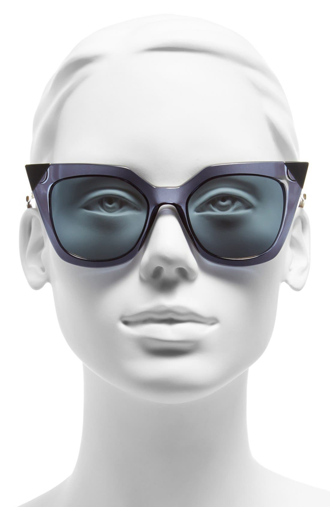 52mm Cat Eye Sunglasses,                             Alternate thumbnail 13, color,