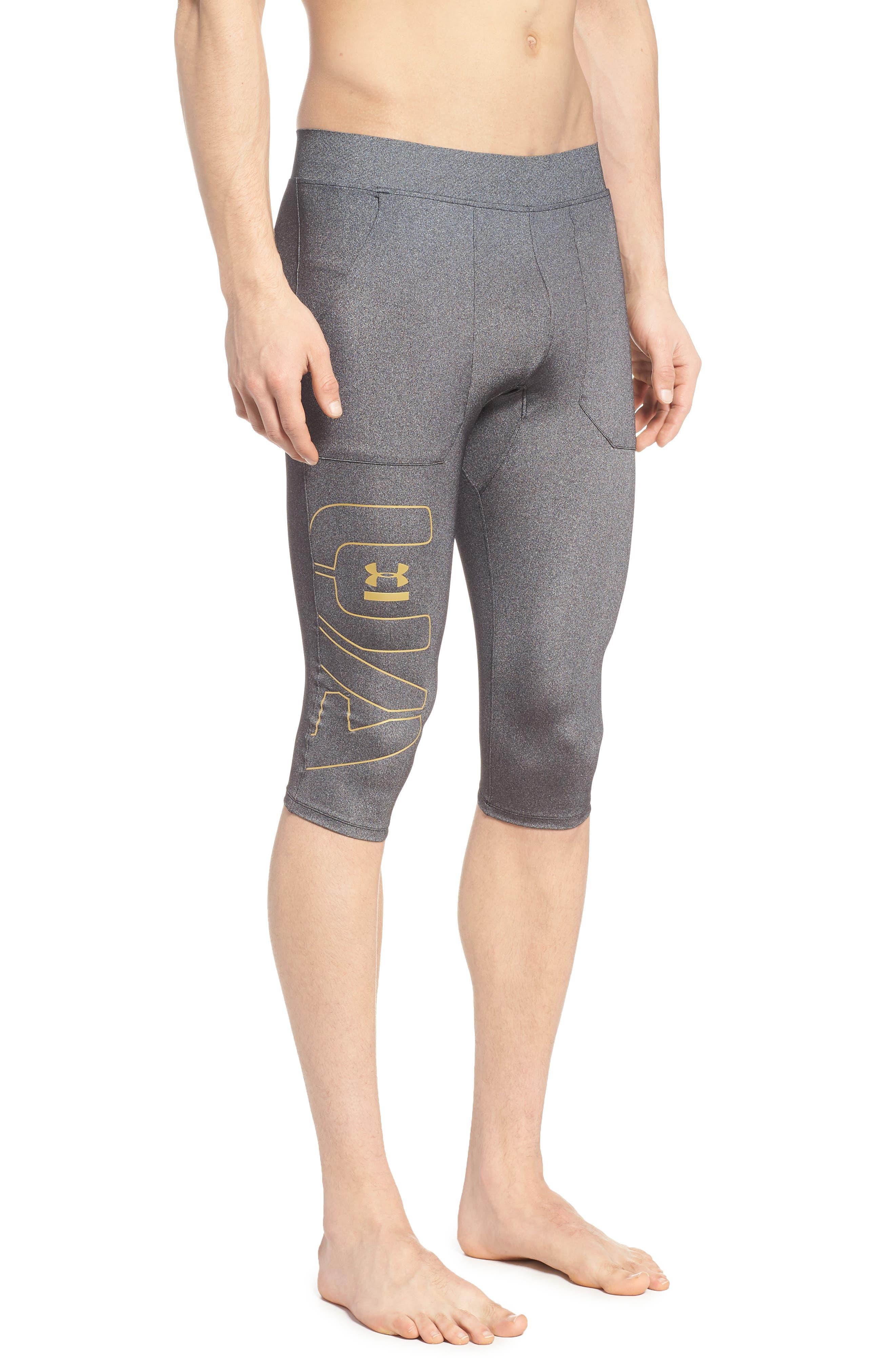 Perpetual Half Leggings,                         Main,                         color, BLACK/ METALLIC VICTORY GOLD