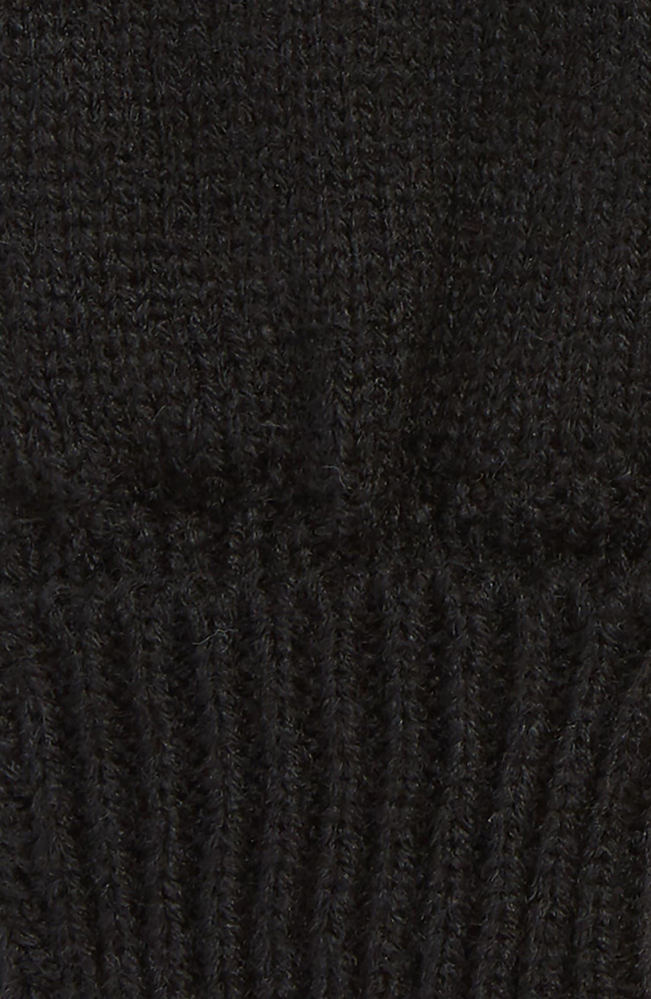 Basic Fingerless Gloves,                             Alternate thumbnail 2, color,                             BLACK