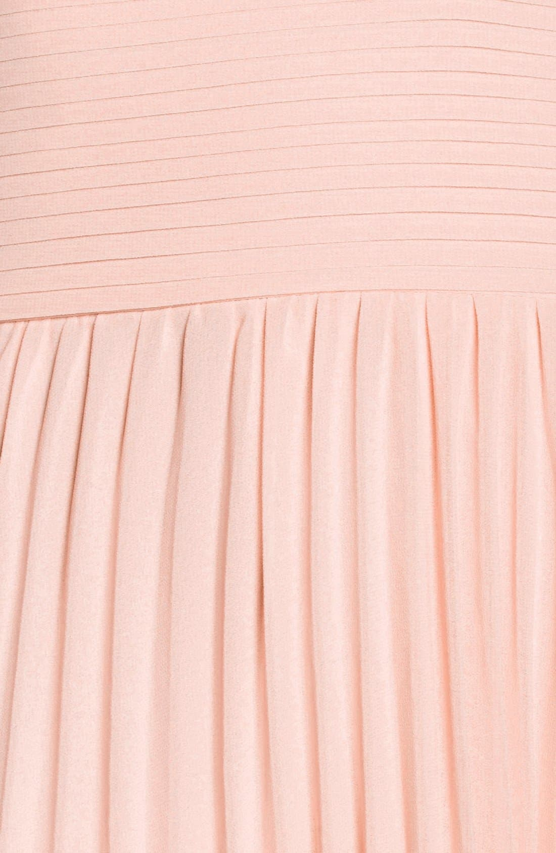 Plunging V-Neck Pleat Georgette Gown,                             Alternate thumbnail 43, color,