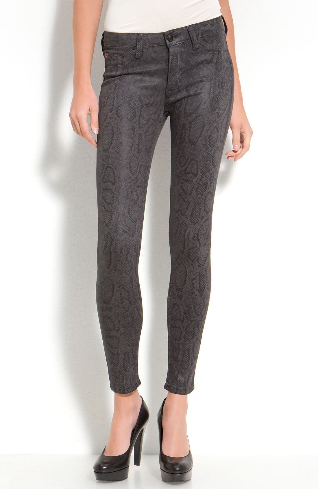 'Nico' Mid Rise Skinny Stretch Jeans,                             Alternate thumbnail 4, color,                             001