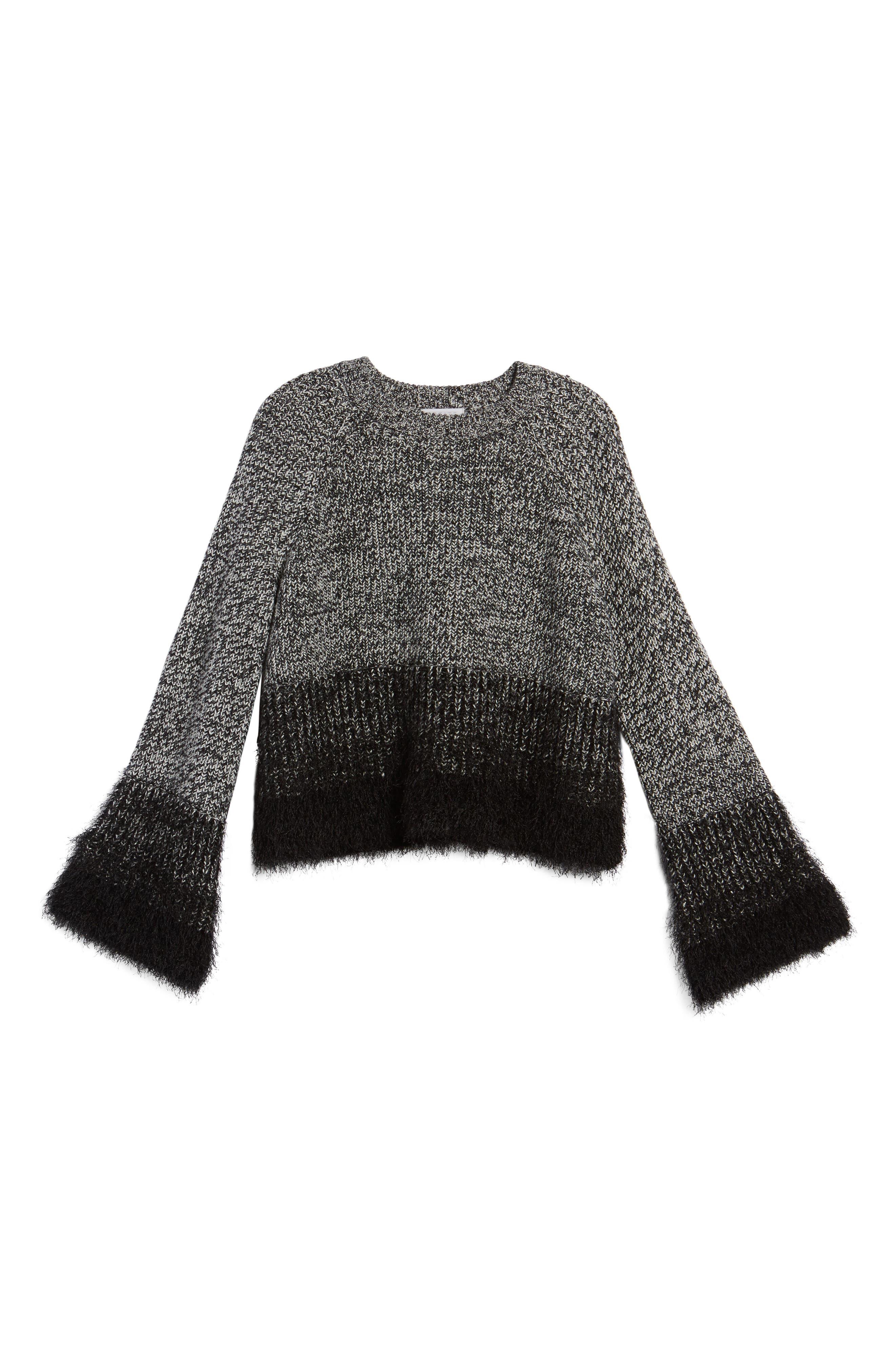 Eyelash Fringe Sweater,                             Alternate thumbnail 6, color,                             006