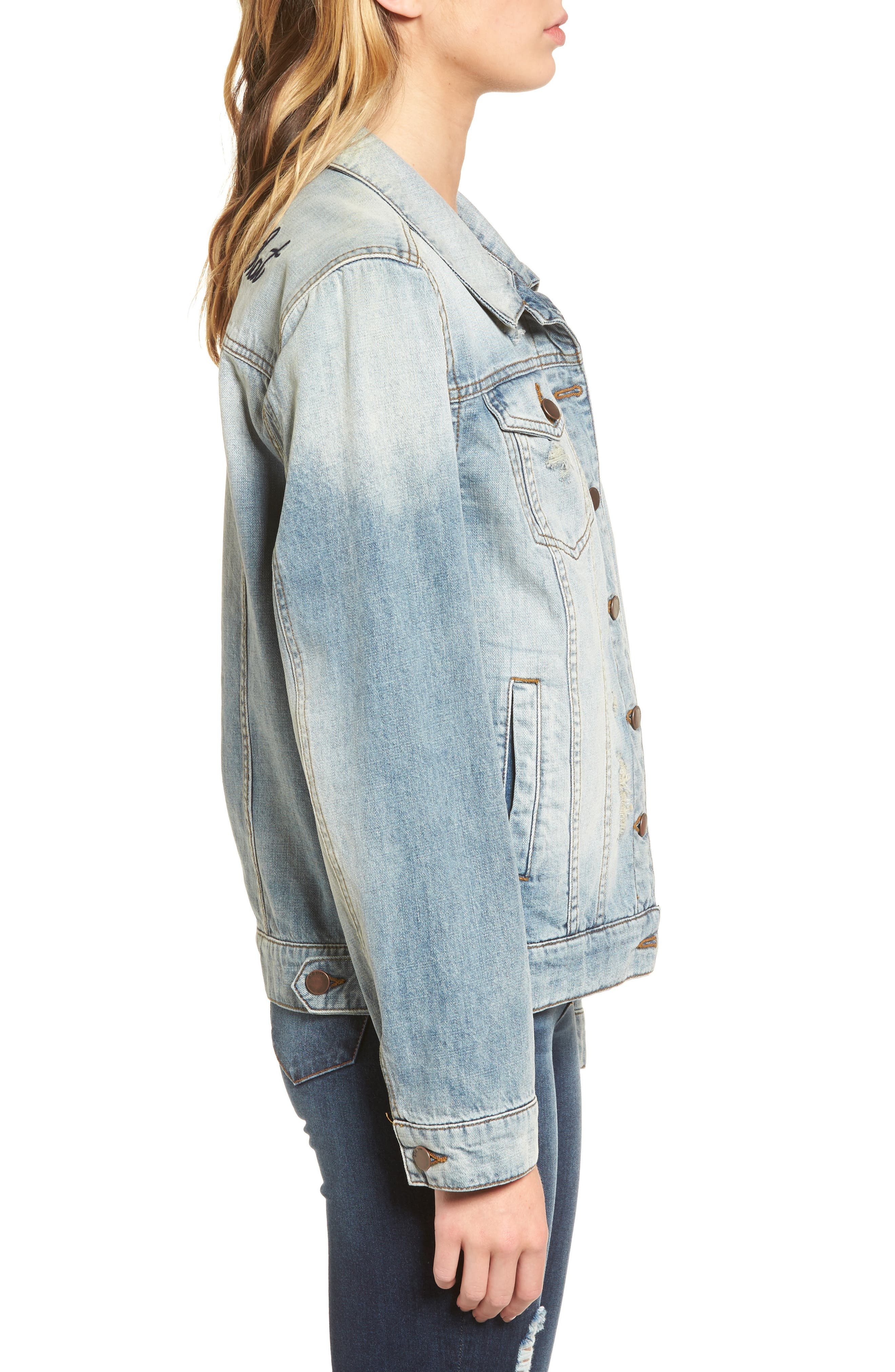 Been There Denim Jacket,                             Alternate thumbnail 3, color,                             400