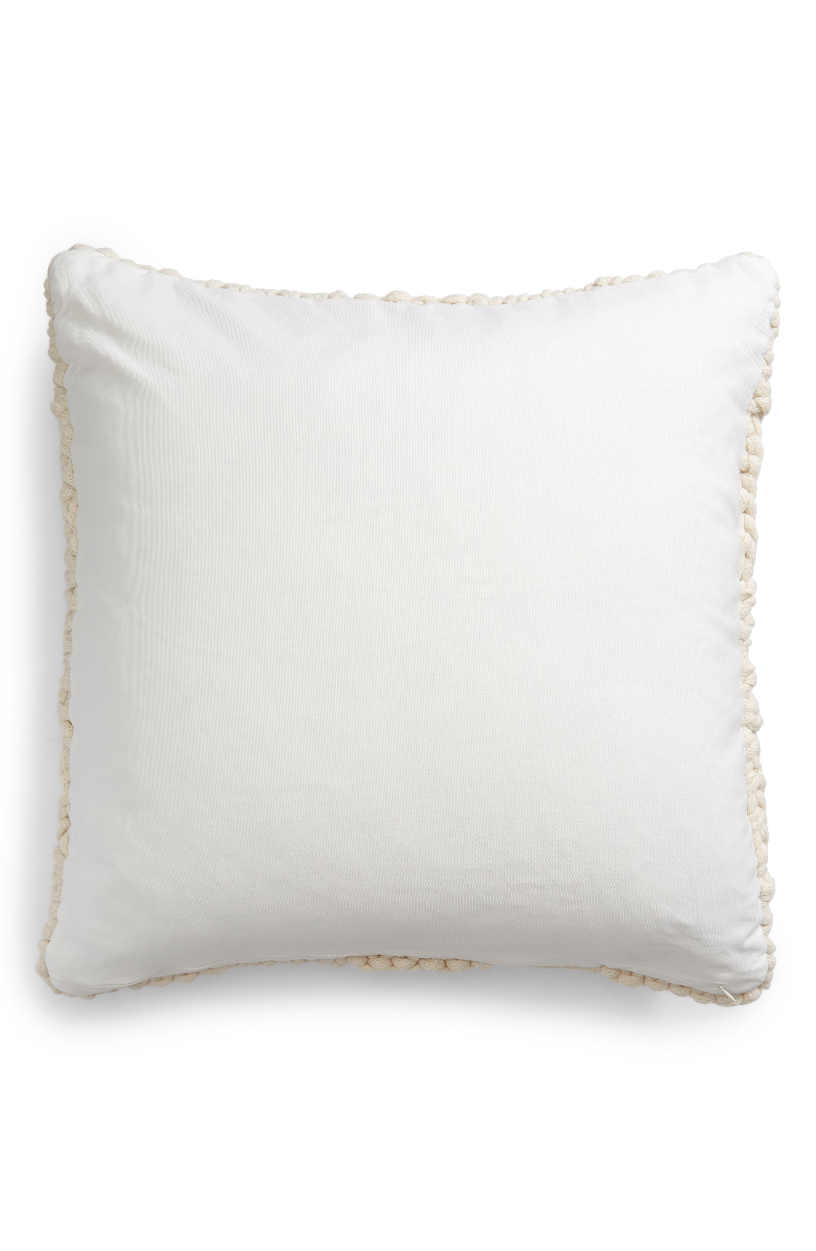 Jersey Rope Basket Accent Pillow,                             Alternate thumbnail 2, color,                             IVORY
