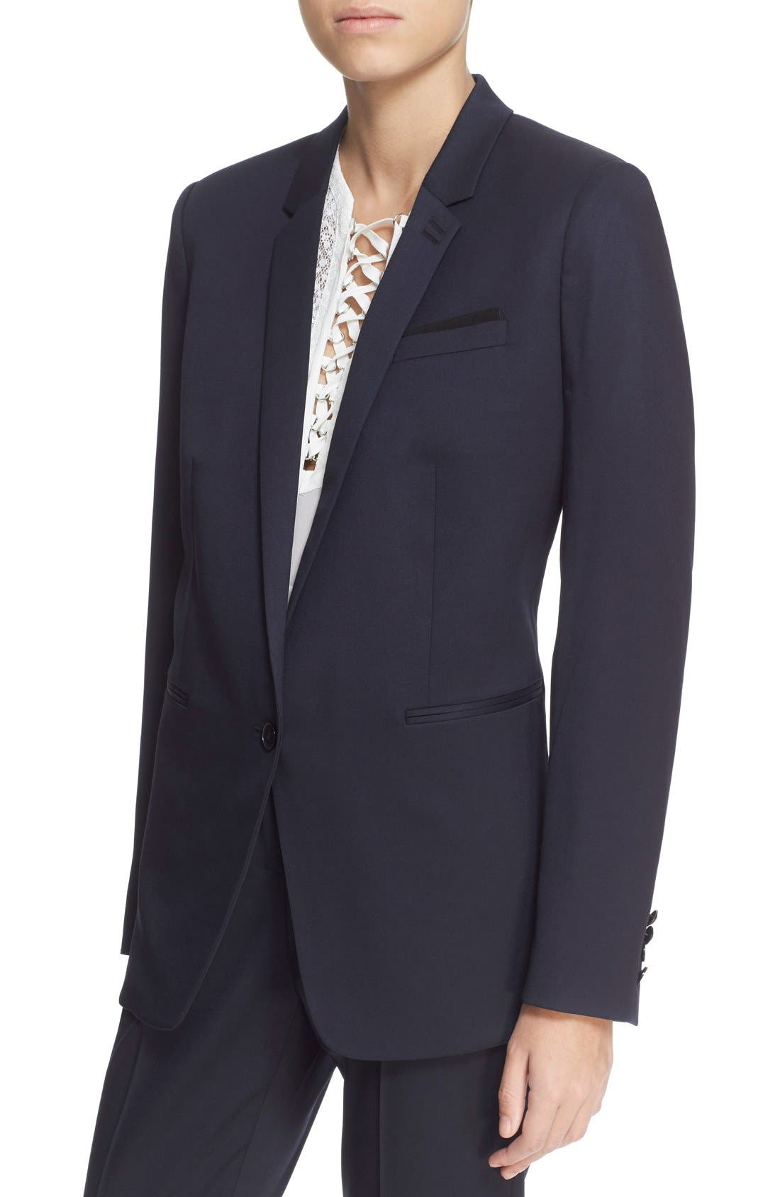 'Timeless' Stretch Wool Jacket,                             Alternate thumbnail 5, color,                             400