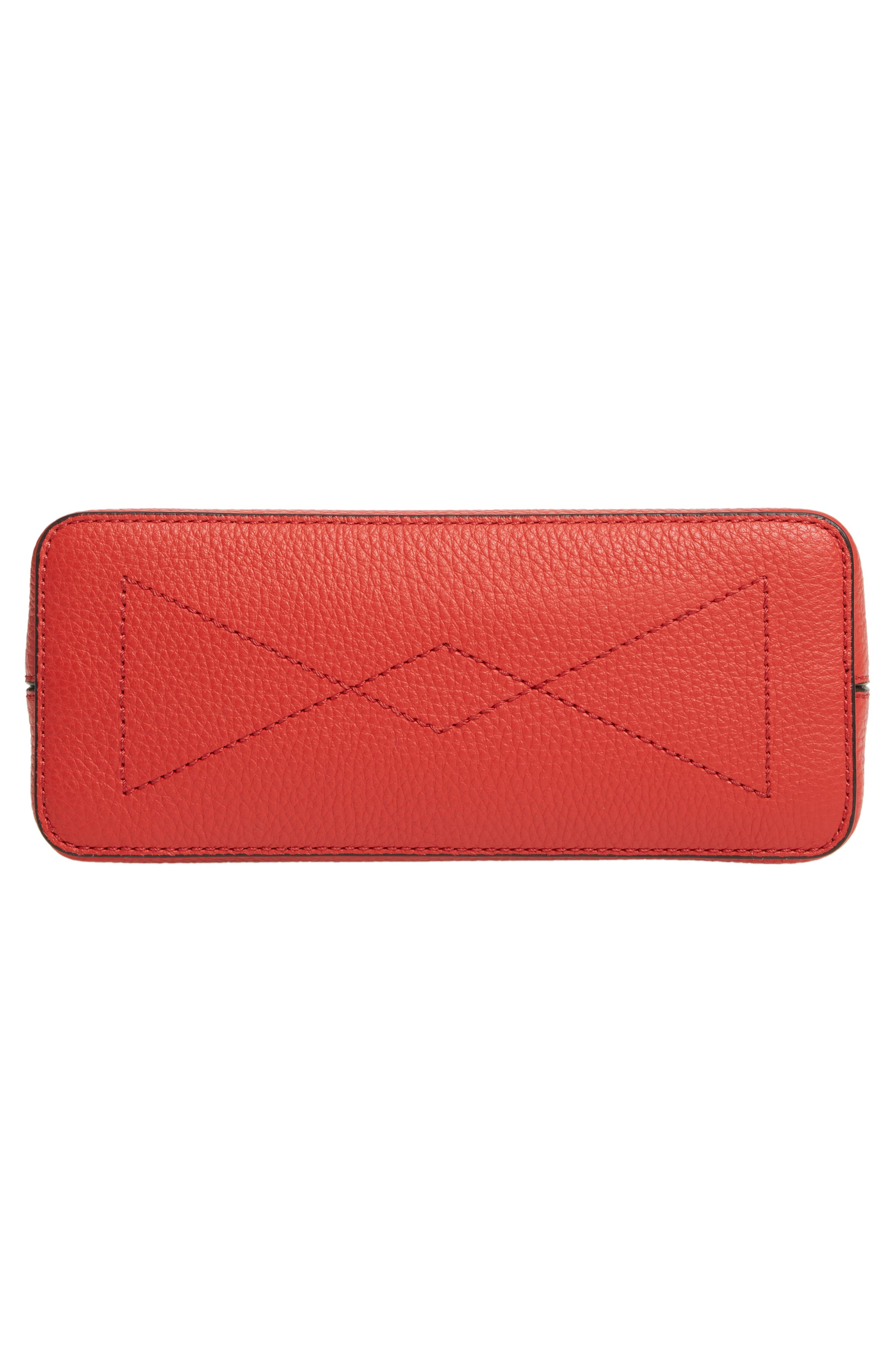MULBERRY,                             Micro Seaton Leather Convertible Crossbody Bag,                             Alternate thumbnail 6, color,                             HIBISCUS RED