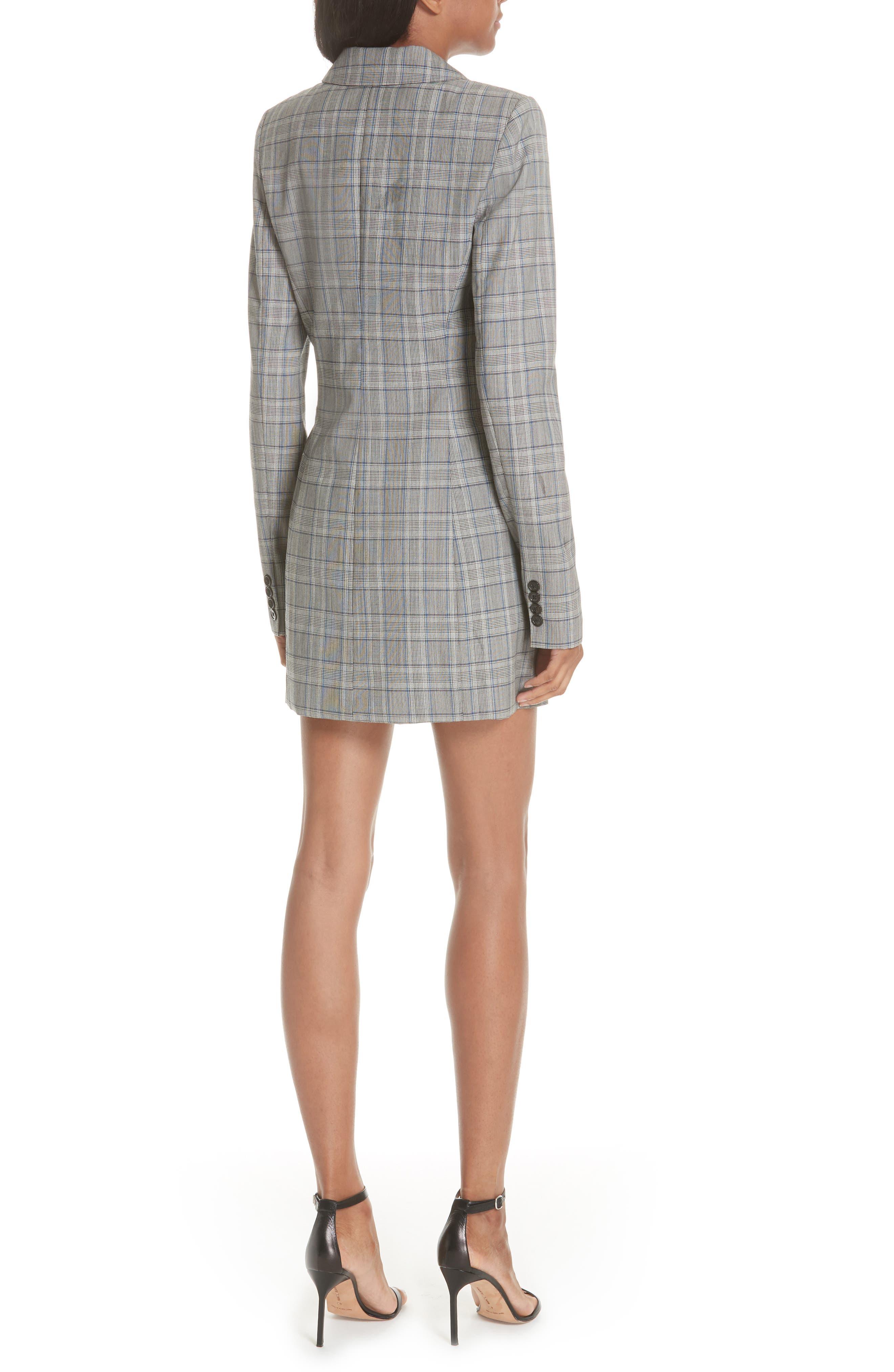 Cotton Suiting Blazer Dress,                             Alternate thumbnail 2, color,                             087