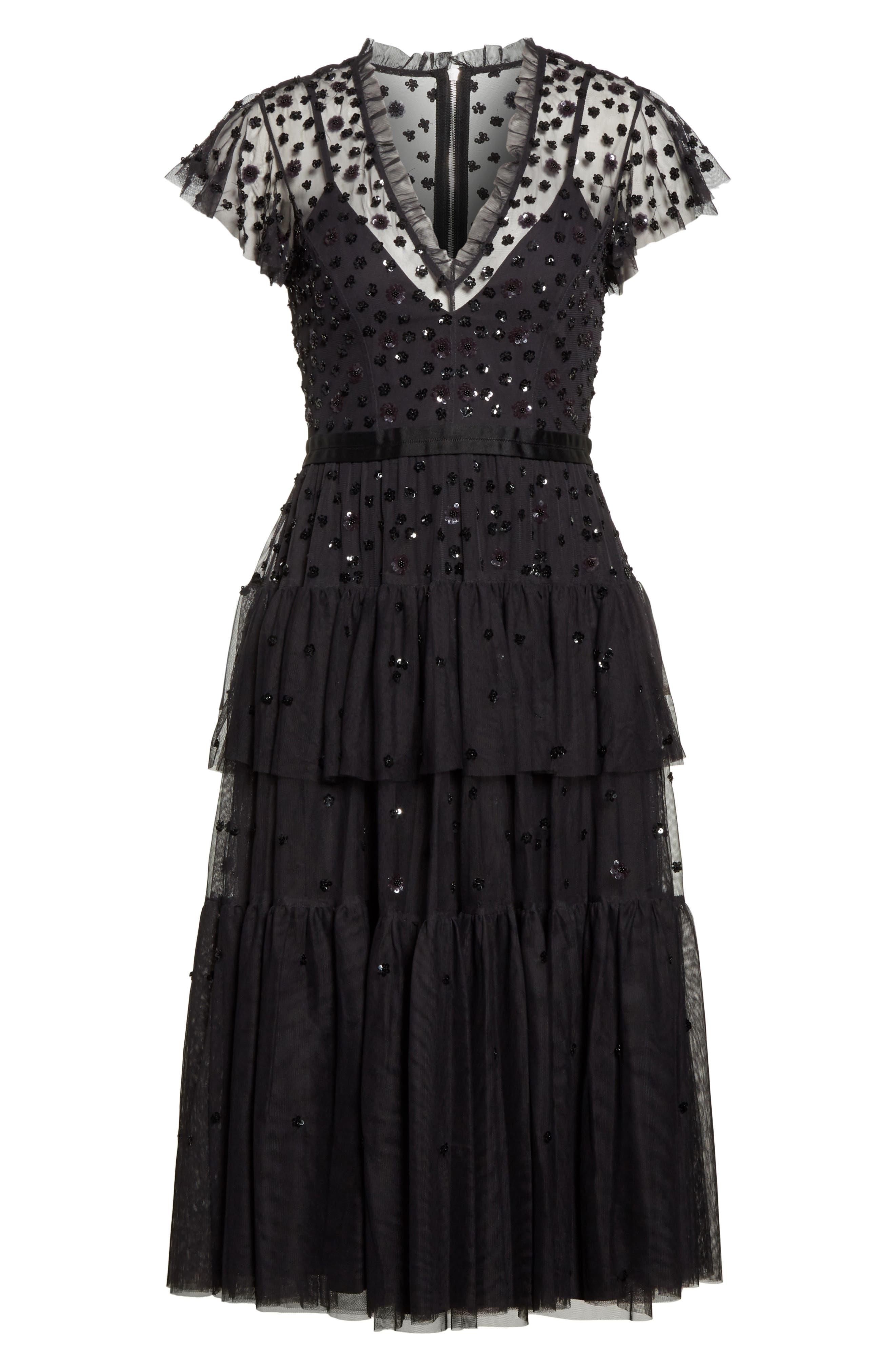 Mirage Sequin Dress,                             Alternate thumbnail 6, color,                             021