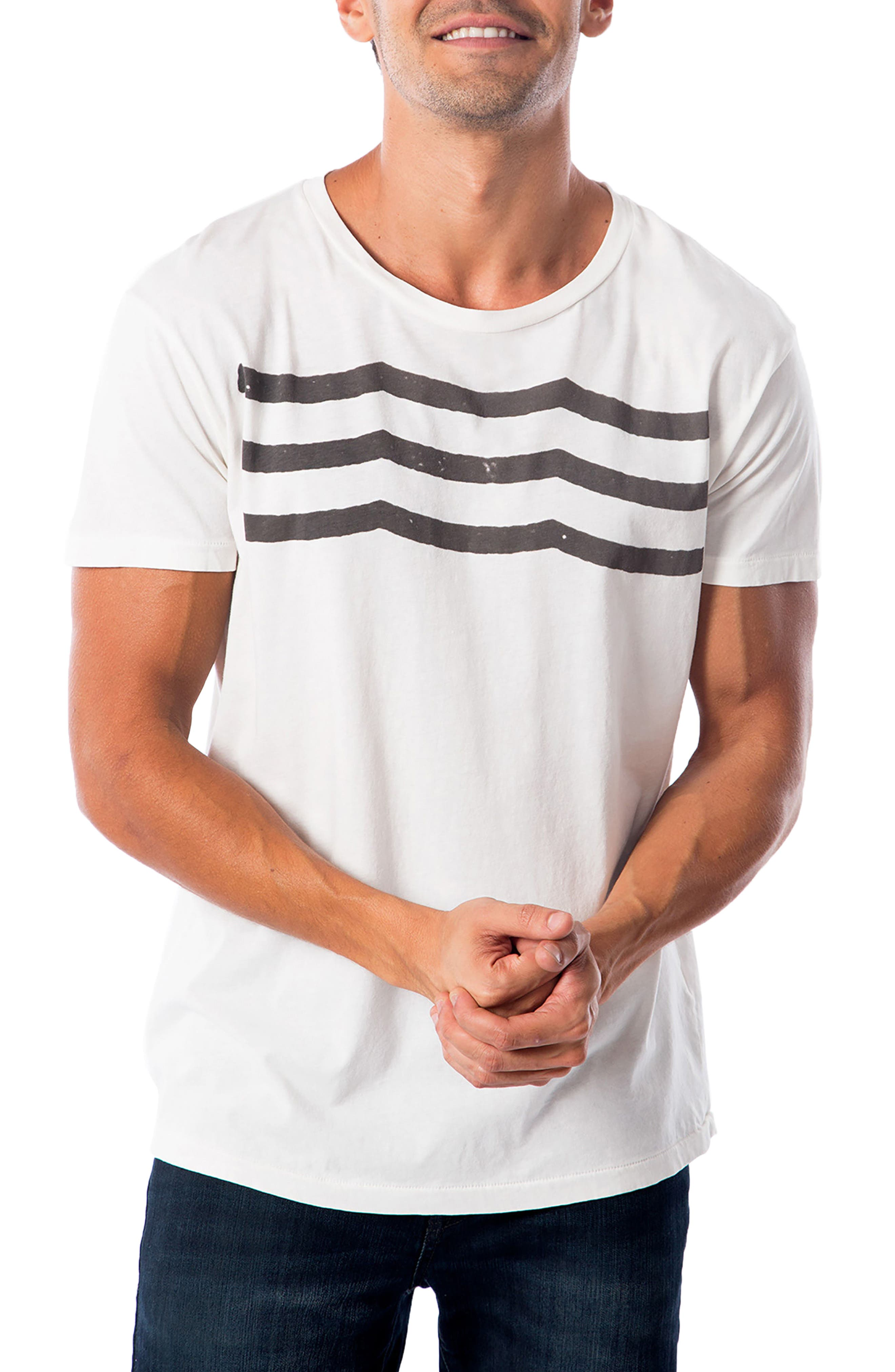 'Waves' Graphic T-Shirt,                         Main,                         color, WHITE