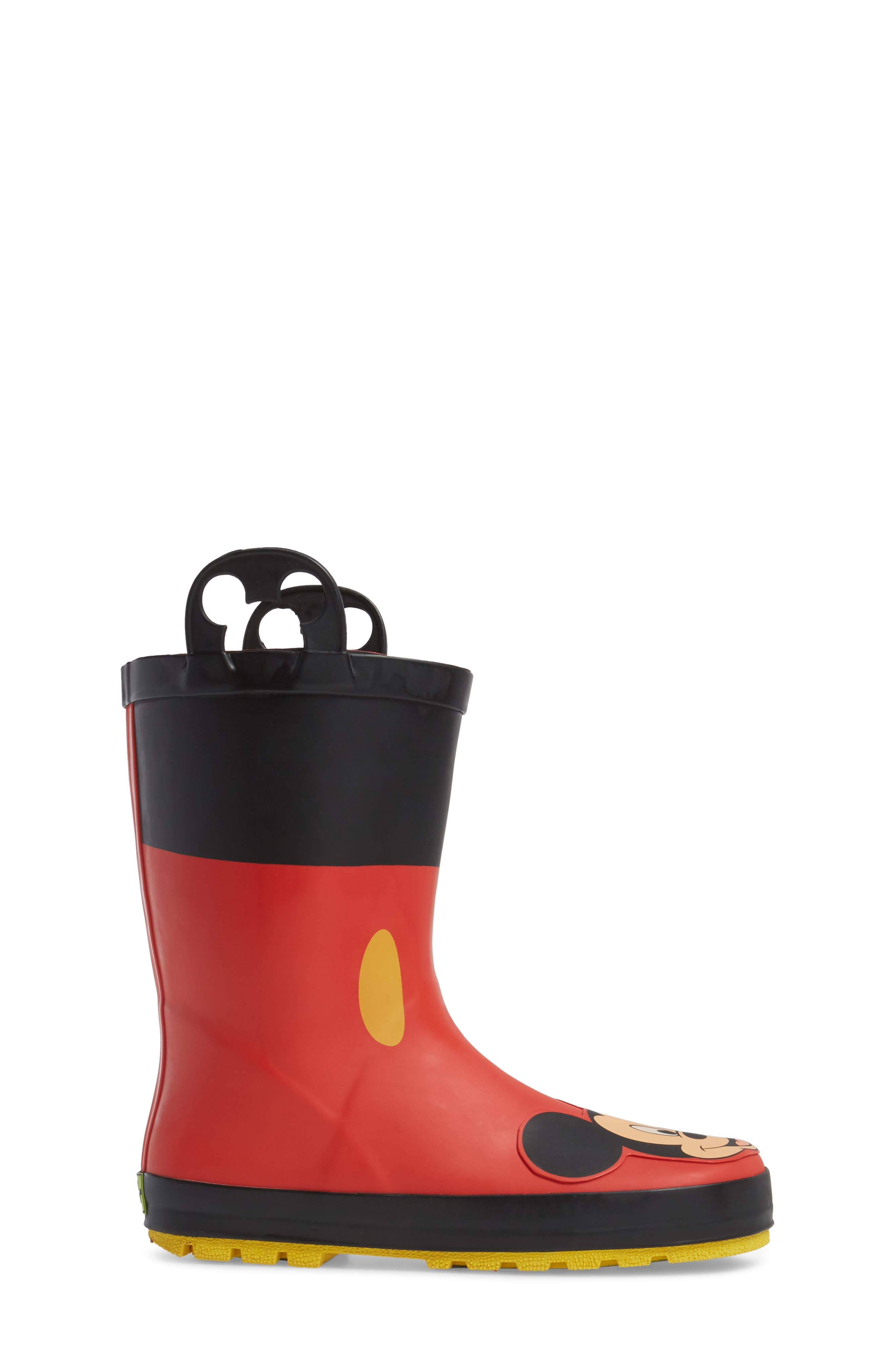 Mickey Mouse Rain Boot,                             Alternate thumbnail 3, color,                             RED