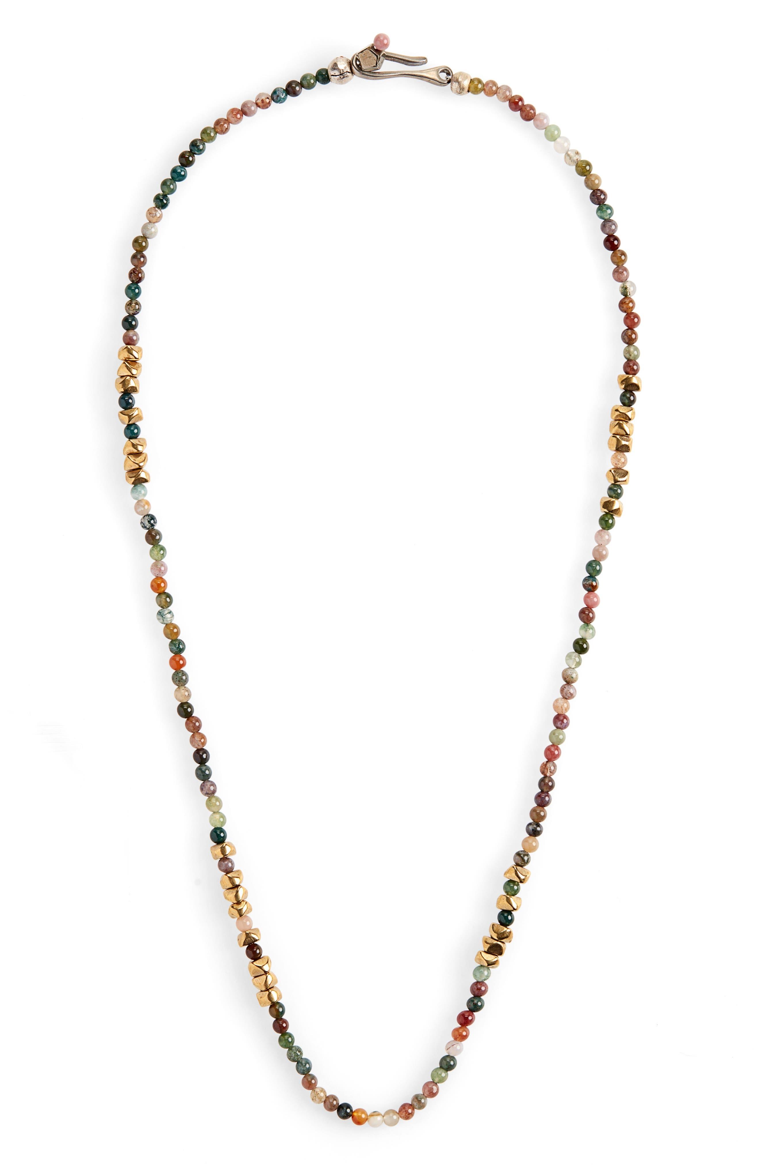 Morse Luck Necklace,                         Main,                         color, GREEN
