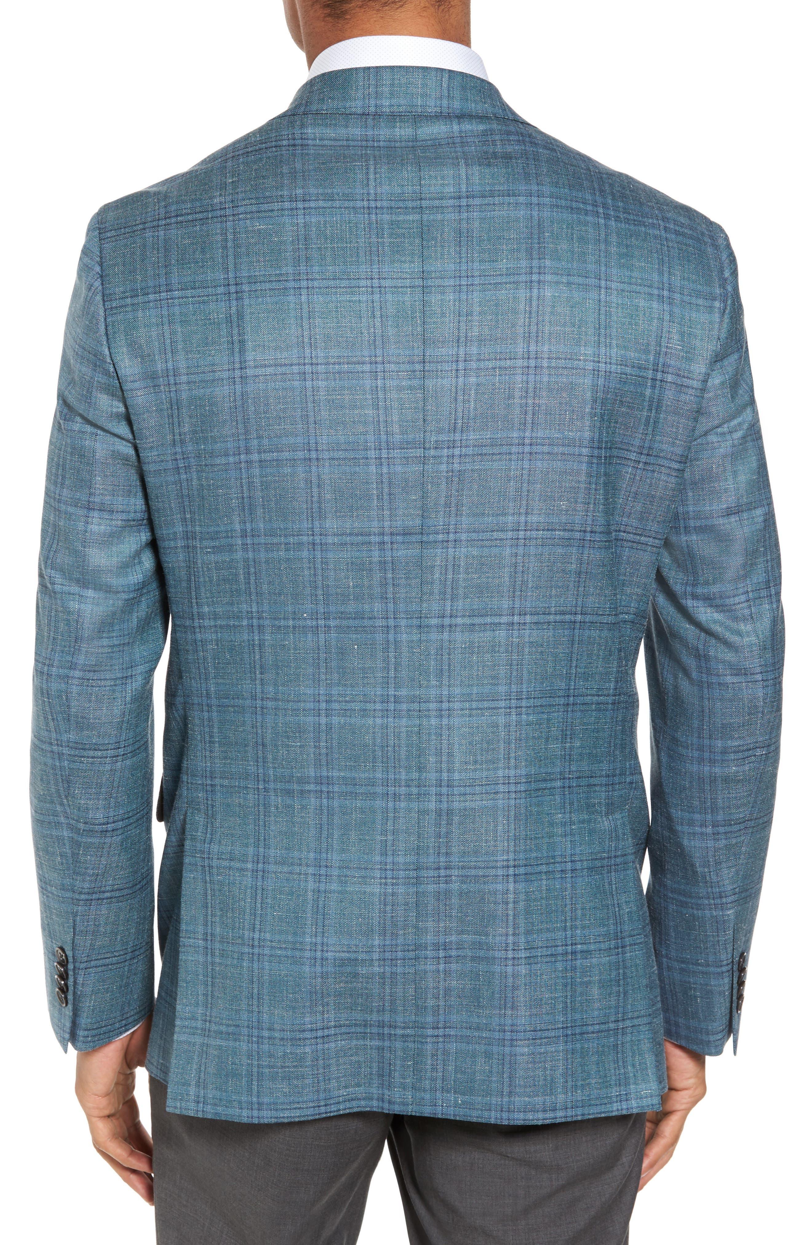 Ashton Classic Fit Stretch Plaid Wool Blend Sport Coat,                             Alternate thumbnail 2, color,                             300
