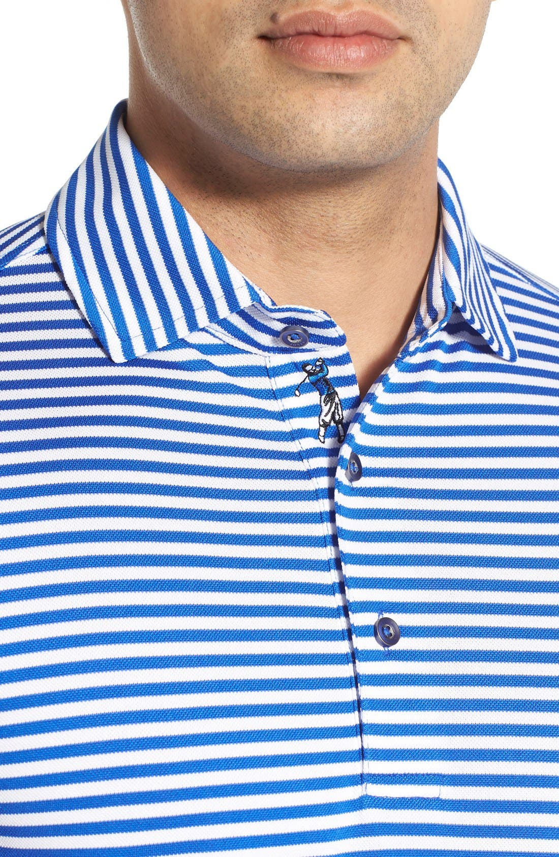 XH2O Feed Stripe Stretch Golf Polo,                             Alternate thumbnail 65, color,