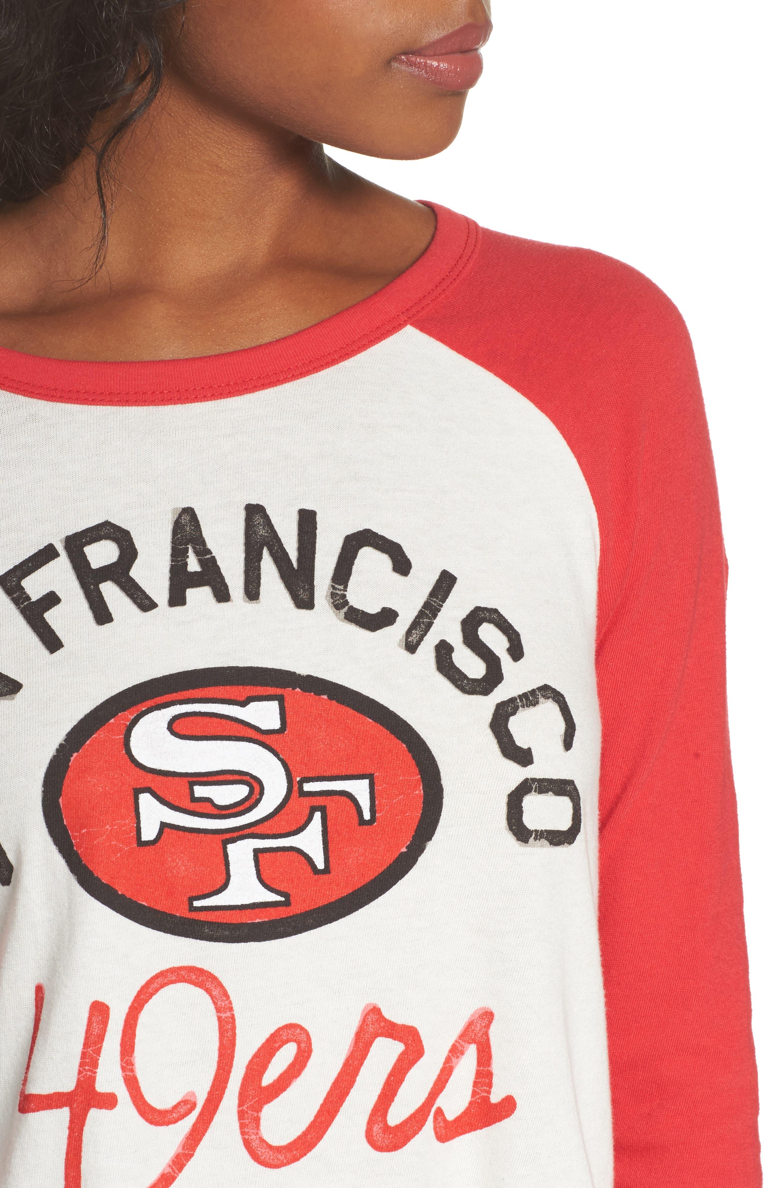 NFL San Francisco 49ers Raglan Tee,                             Alternate thumbnail 4, color,                             189