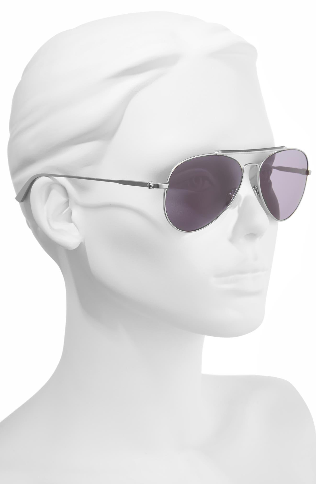 58mm Aviator Sunglasses,                             Alternate thumbnail 2, color,                             040