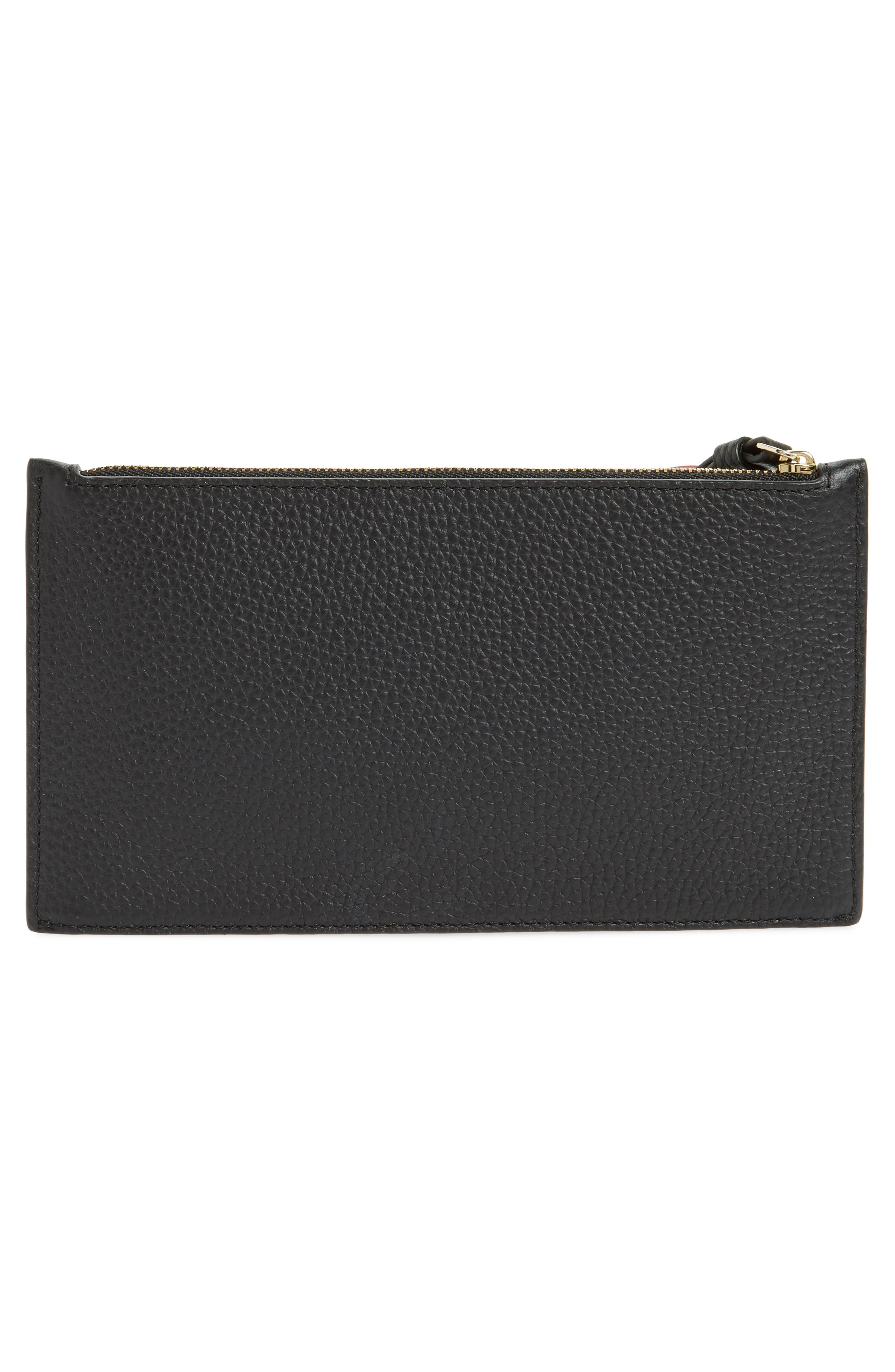 yours truly ariah leather wristlet,                             Alternate thumbnail 3, color,                             001