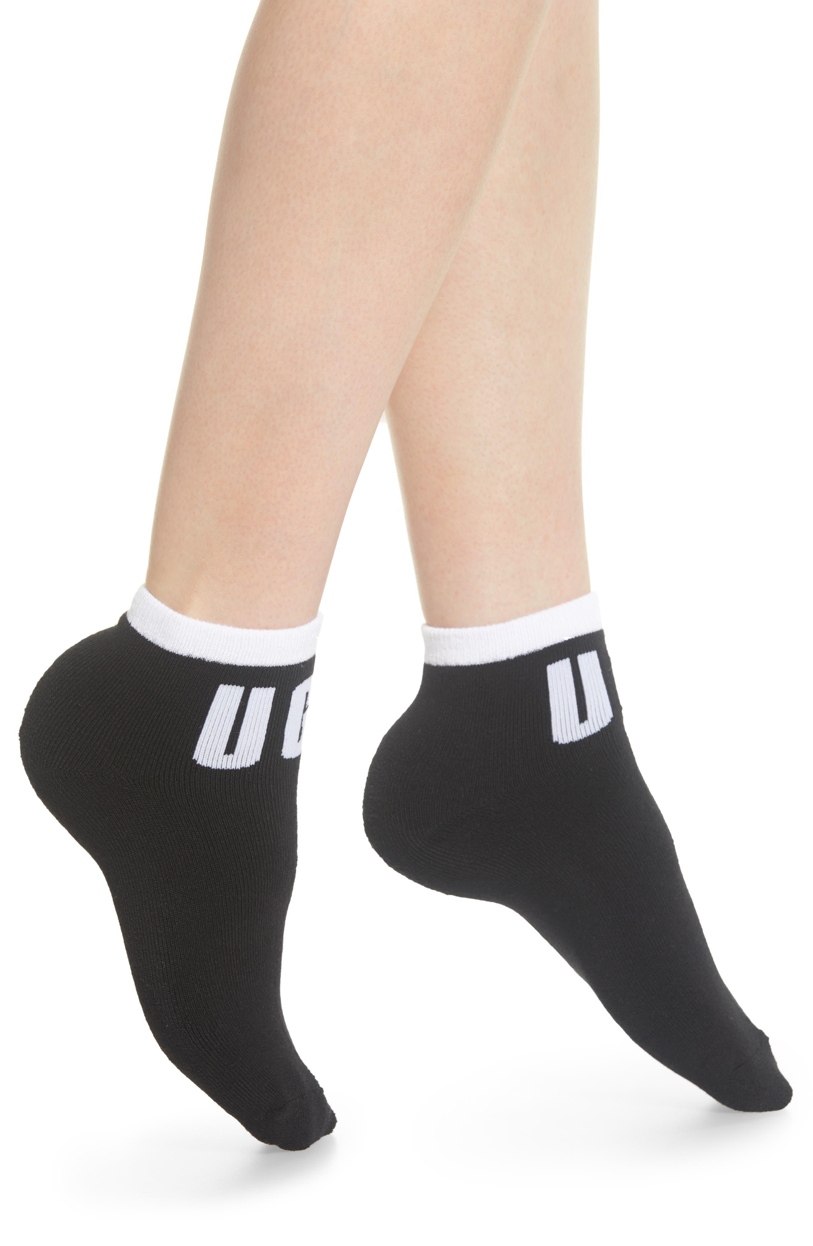 Ankle Socks,                         Main,                         color, BLACK