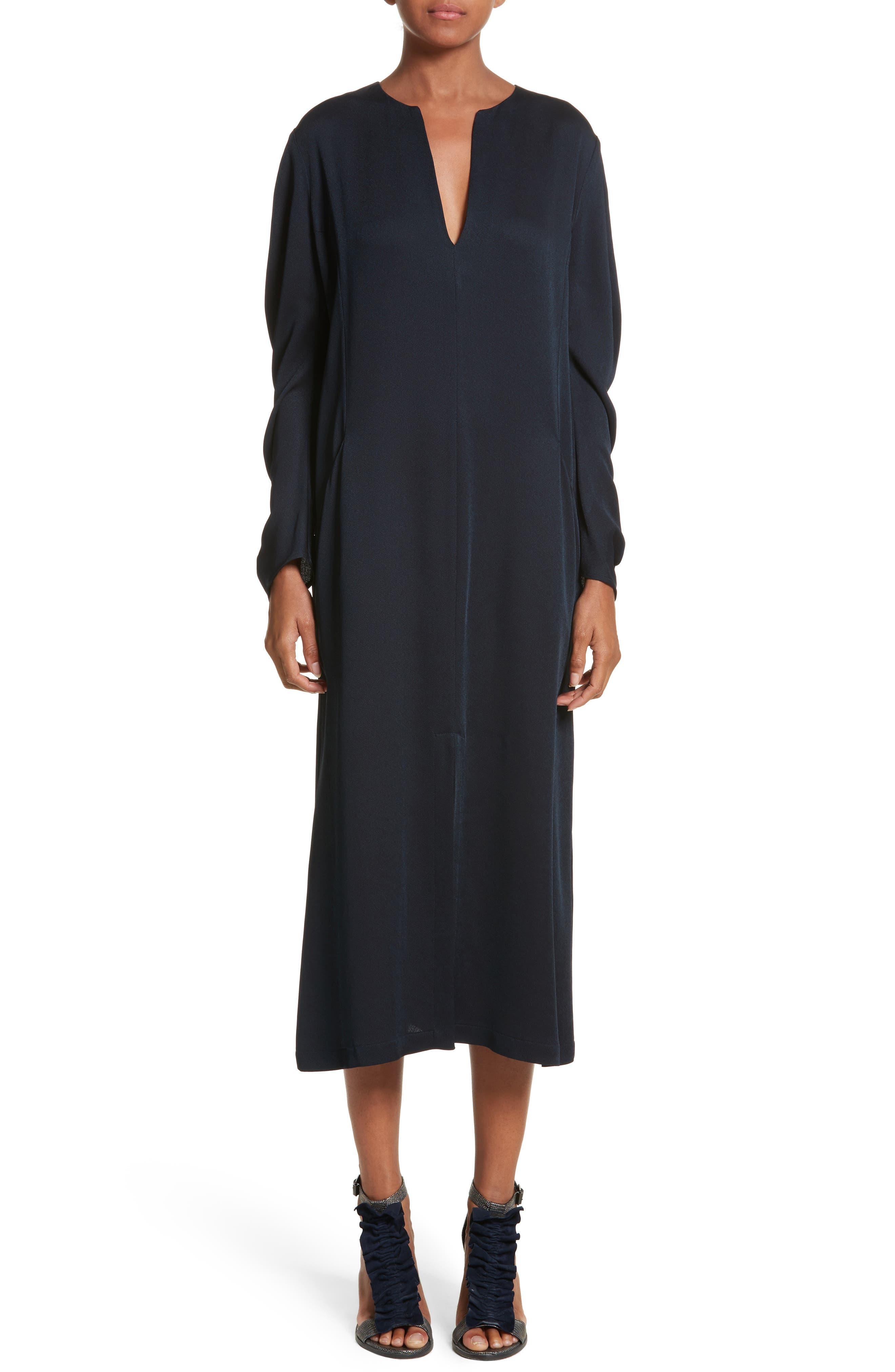 Eco Drape Midi Dress,                             Main thumbnail 1, color,                             007