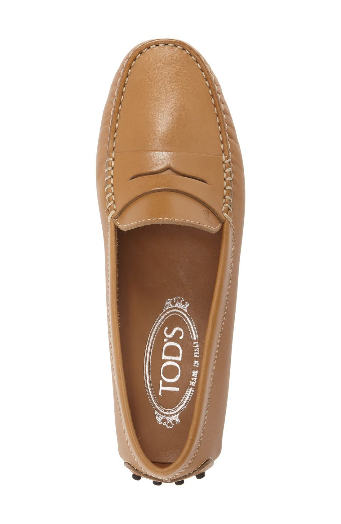 TOD'S,                             'Gommini' Driving Moccasin,                             Alternate thumbnail 4, color,                             BROWN