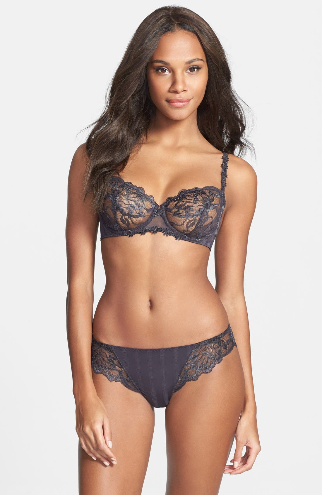 'Amour' Underwire Demi Bra,                             Alternate thumbnail 46, color,