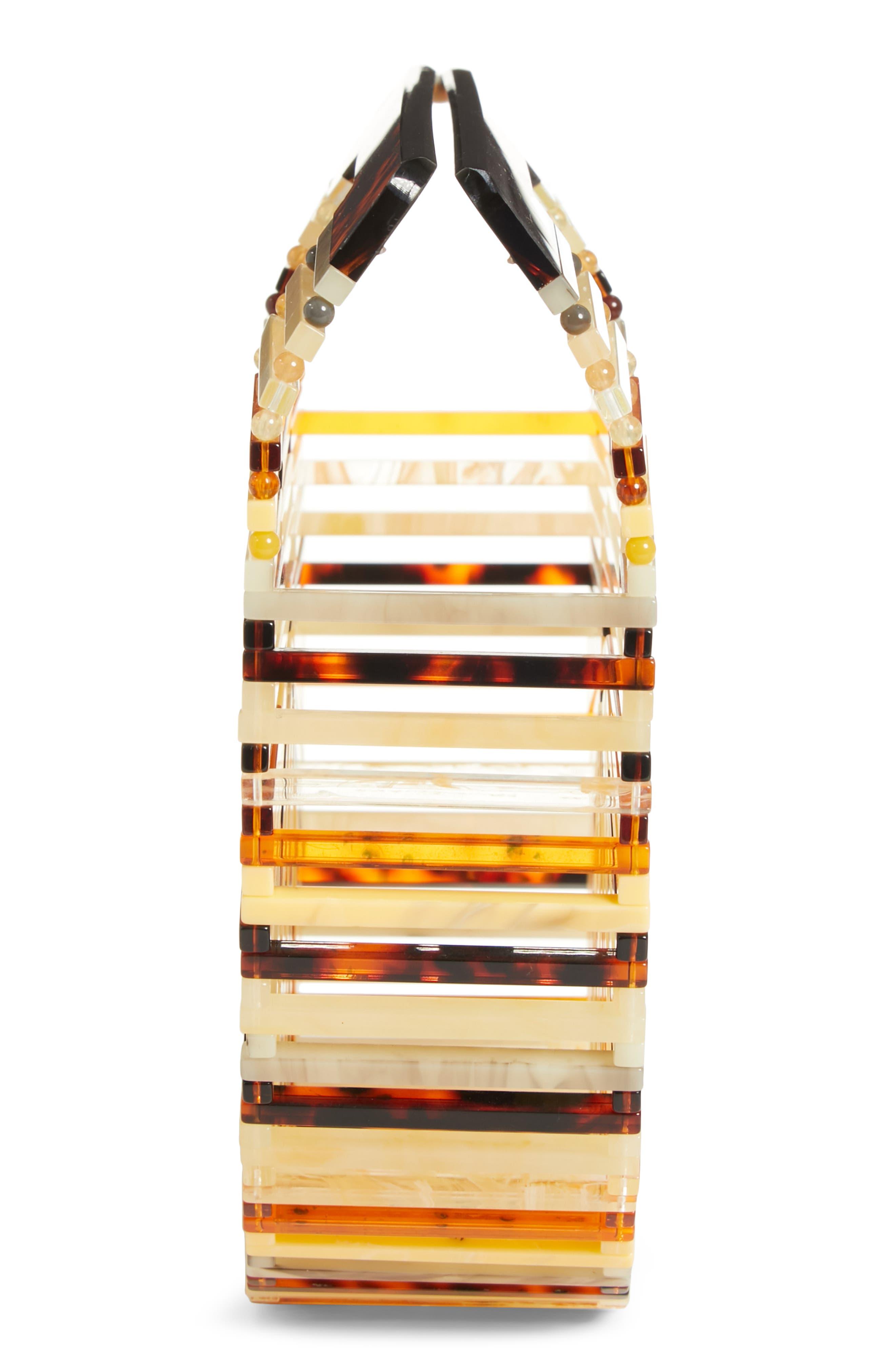 Mini Ark Handbag,                             Alternate thumbnail 5, color,                             TORTOISE