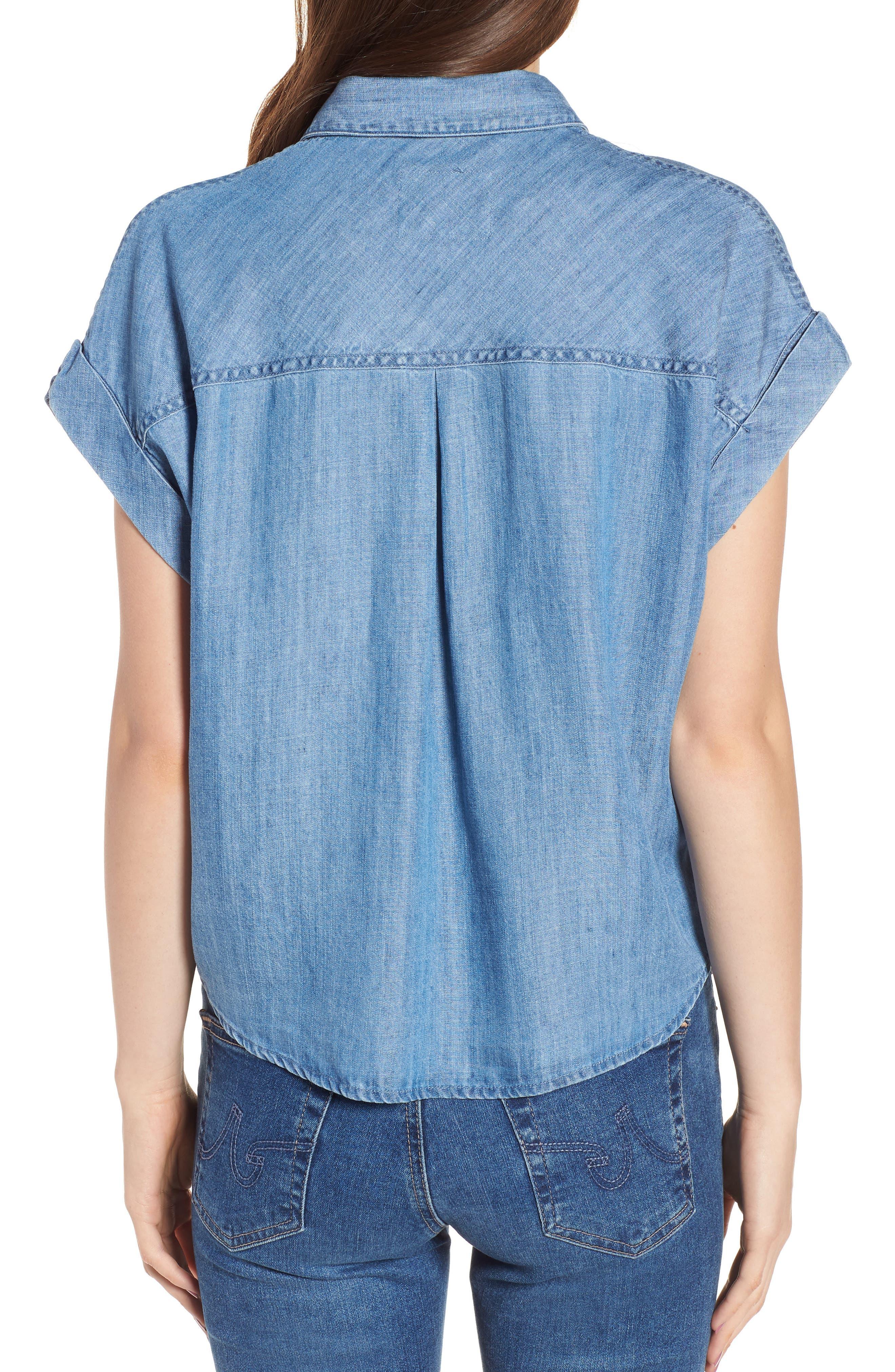 Amelie Tie Front Shirt,                             Alternate thumbnail 2, color,                             493