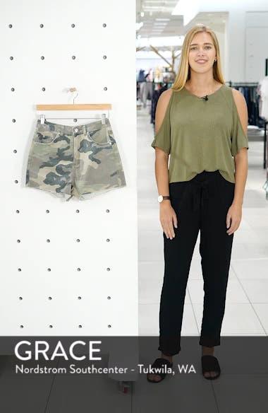 Camo Denim Mom Shorts, sales video thumbnail